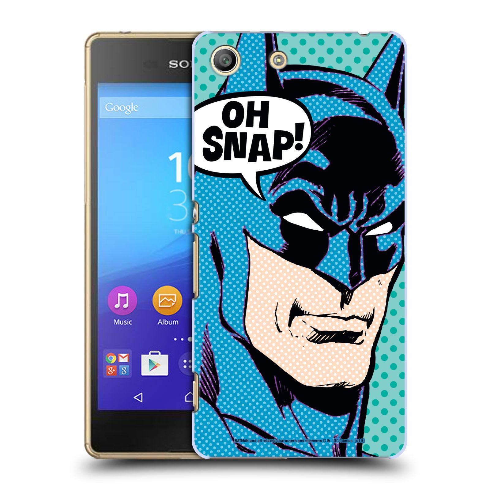 Pouzdro na mobil Sony Xperia M5 - HEAD CASE - DC komix Batman Pop Art tvář