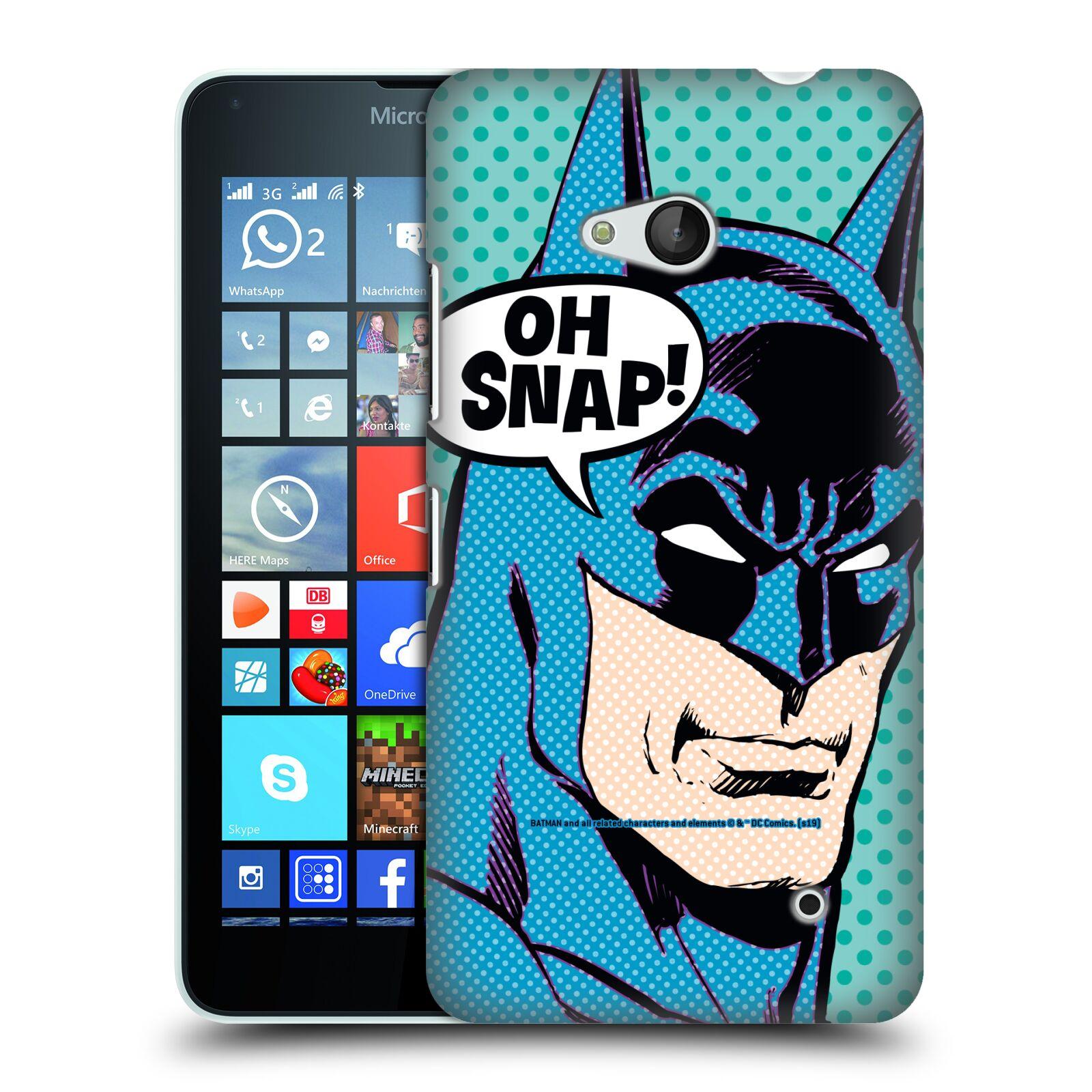Pouzdro na mobil Microsoft Lumia 640 / 640 DUAL SIM - HEAD CASE - DC komix Batman Pop Art tvář