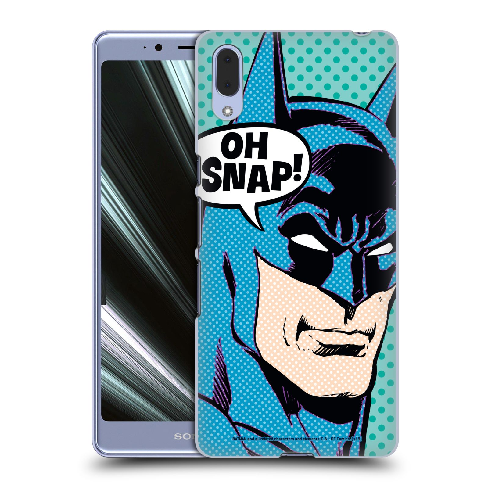 Pouzdro na mobil Sony Xperia L3 - HEAD CASE - DC komix Batman Pop Art tvář