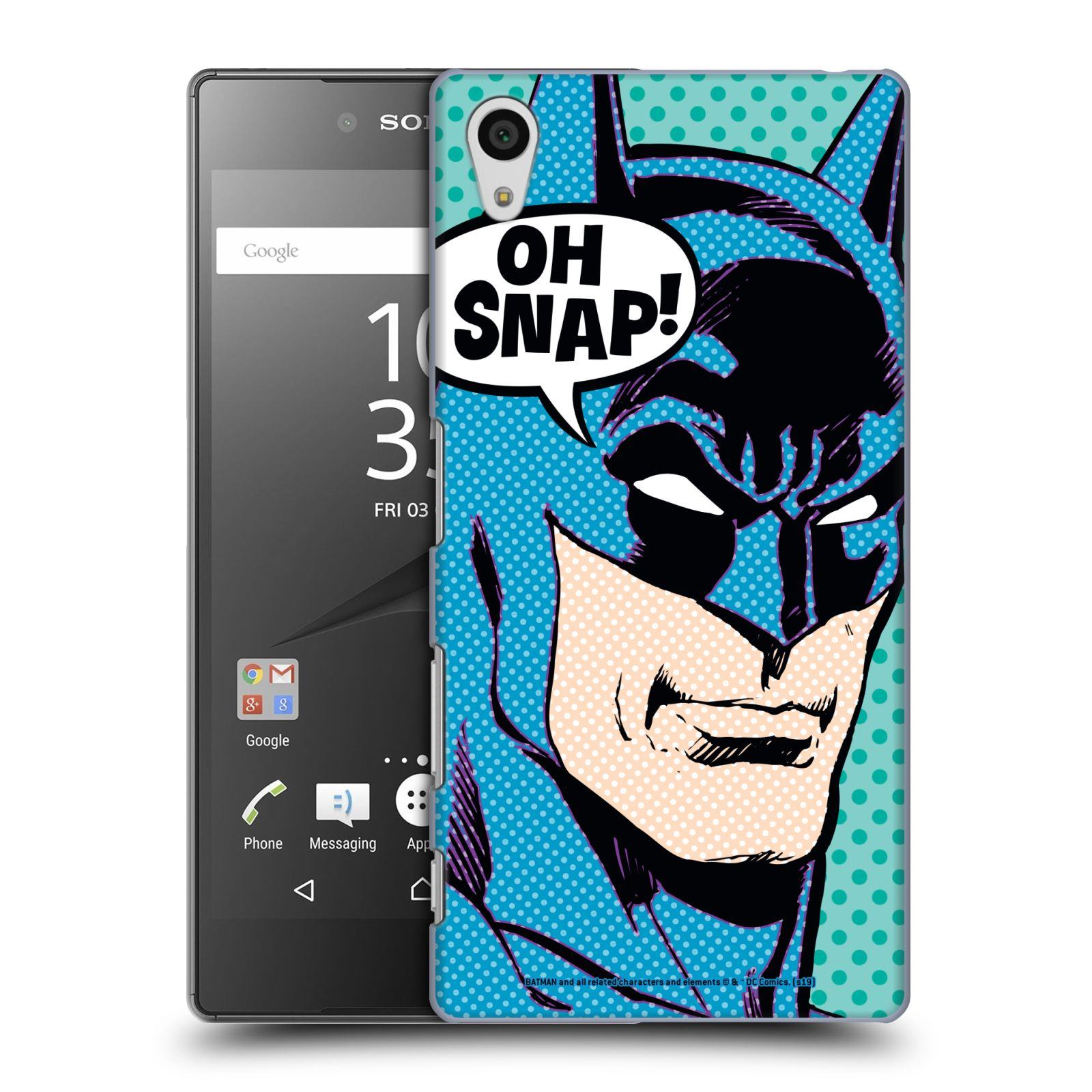 Pouzdro na mobil Sony Xperia Z5 - HEAD CASE - DC komix Batman Pop Art tvář