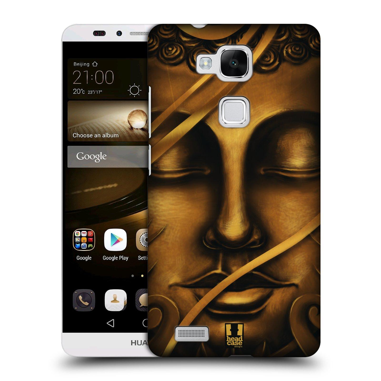 HEAD CASE plastový obal na mobil Huawei Mate 7 vzor BUDDHA ZLATÝ BUDHA