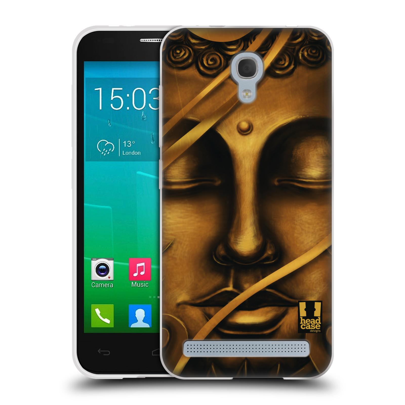 HEAD CASE silikonový obal na mobil Alcatel Idol 2 MINI S 6036Y vzor BUDDHA ZLATÝ BUDHA