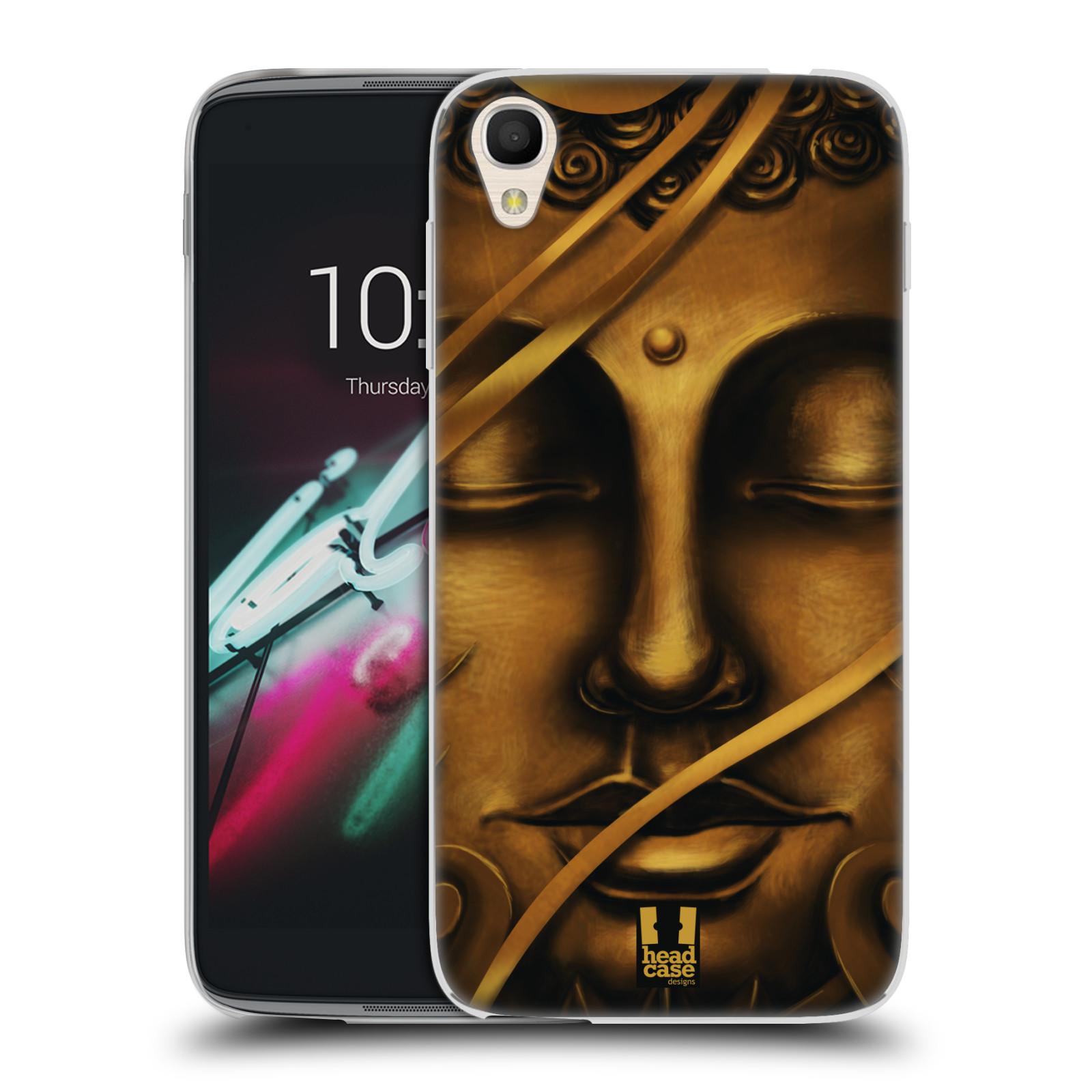 HEAD CASE silikonový obal na mobil Alcatel Idol 3 OT-6039Y (4.7) vzor BUDDHA ZLATÝ BUDHA