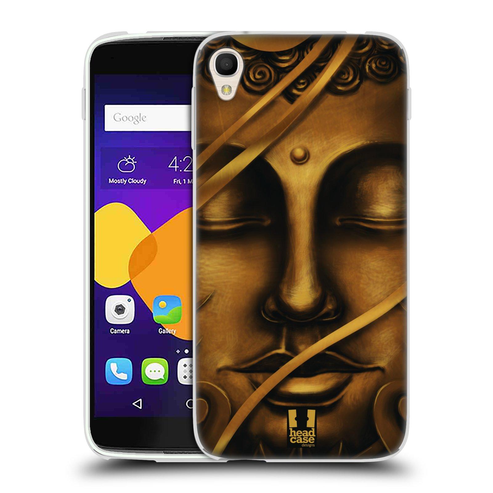 HEAD CASE silikonový obal na mobil Alcatel Idol 3 OT-6045Y (5.5) vzor BUDDHA ZLATÝ BUDHA