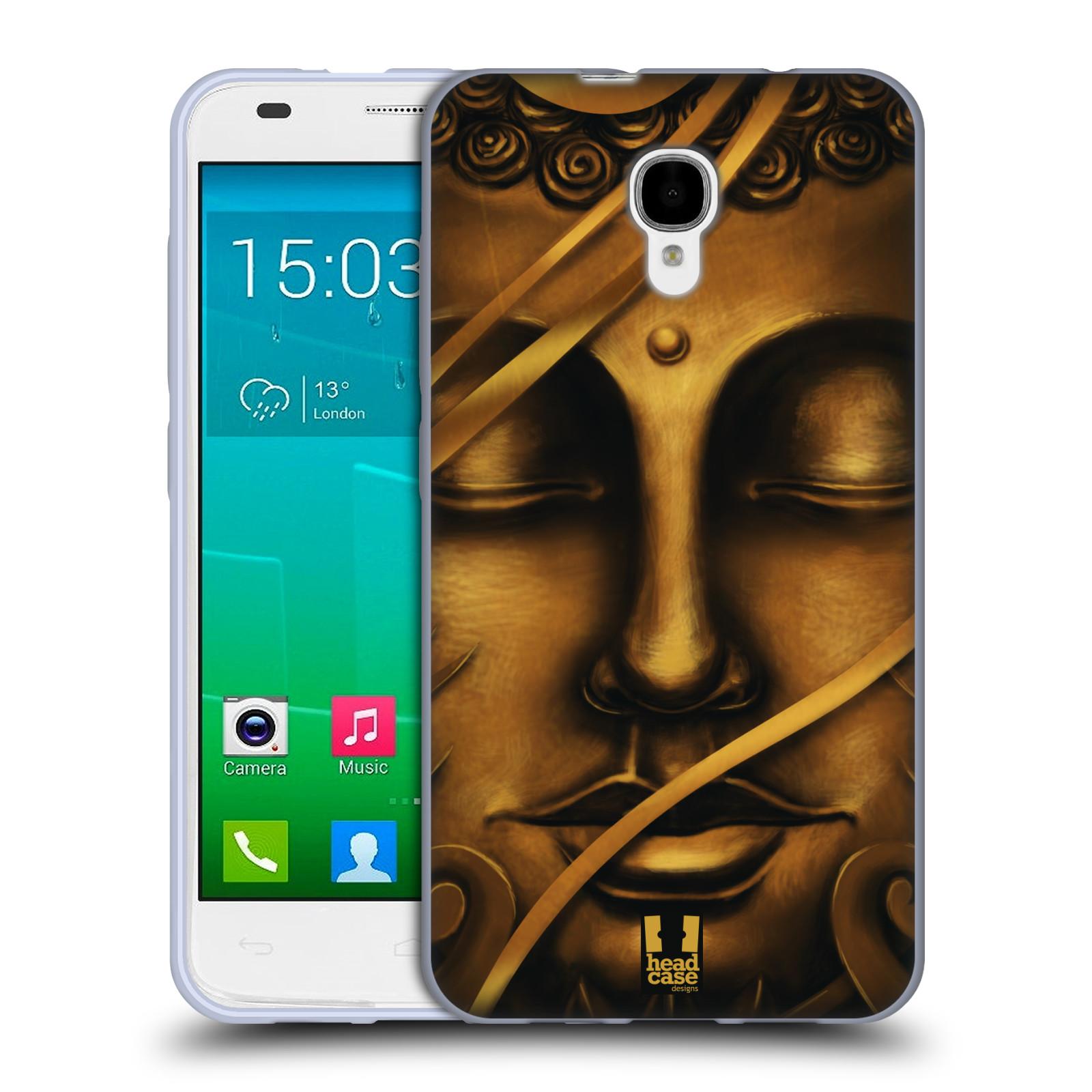 HEAD CASE silikonový obal na mobil Alcatel Idol 2 S OT-6050 vzor BUDDHA ZLATÝ BUDHA