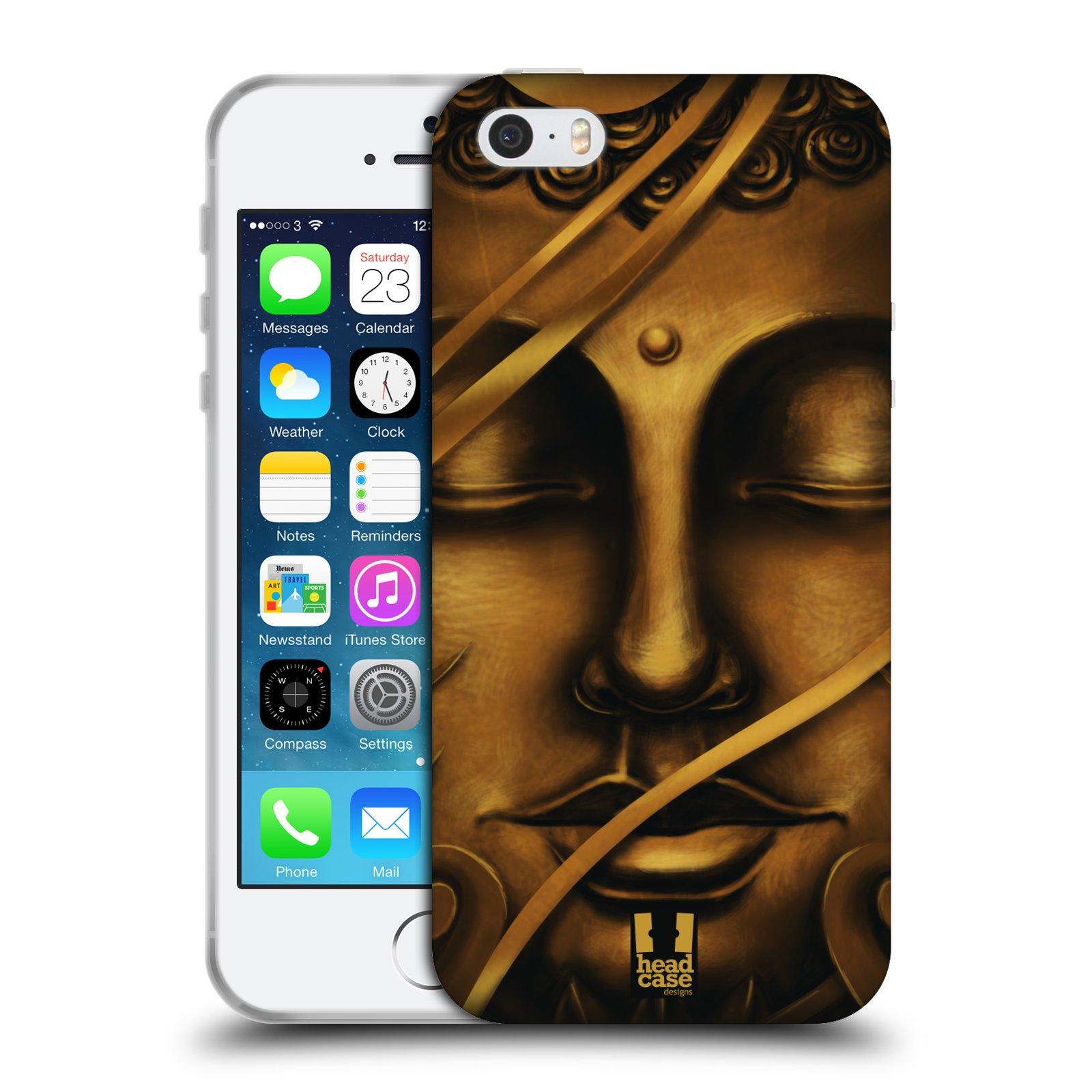 HEAD CASE silikonový obal na mobil Apple Iphone 5/5S vzor BUDDHA ZLATÝ BUDHA