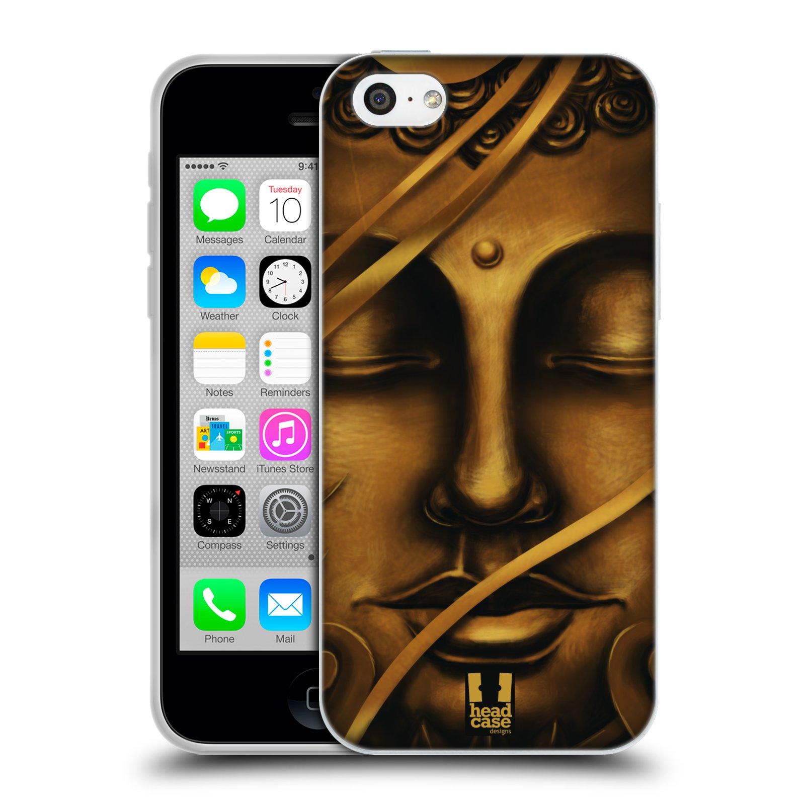HEAD CASE silikonový obal na mobil Apple Iphone 5C vzor BUDDHA ZLATÝ BUDHA