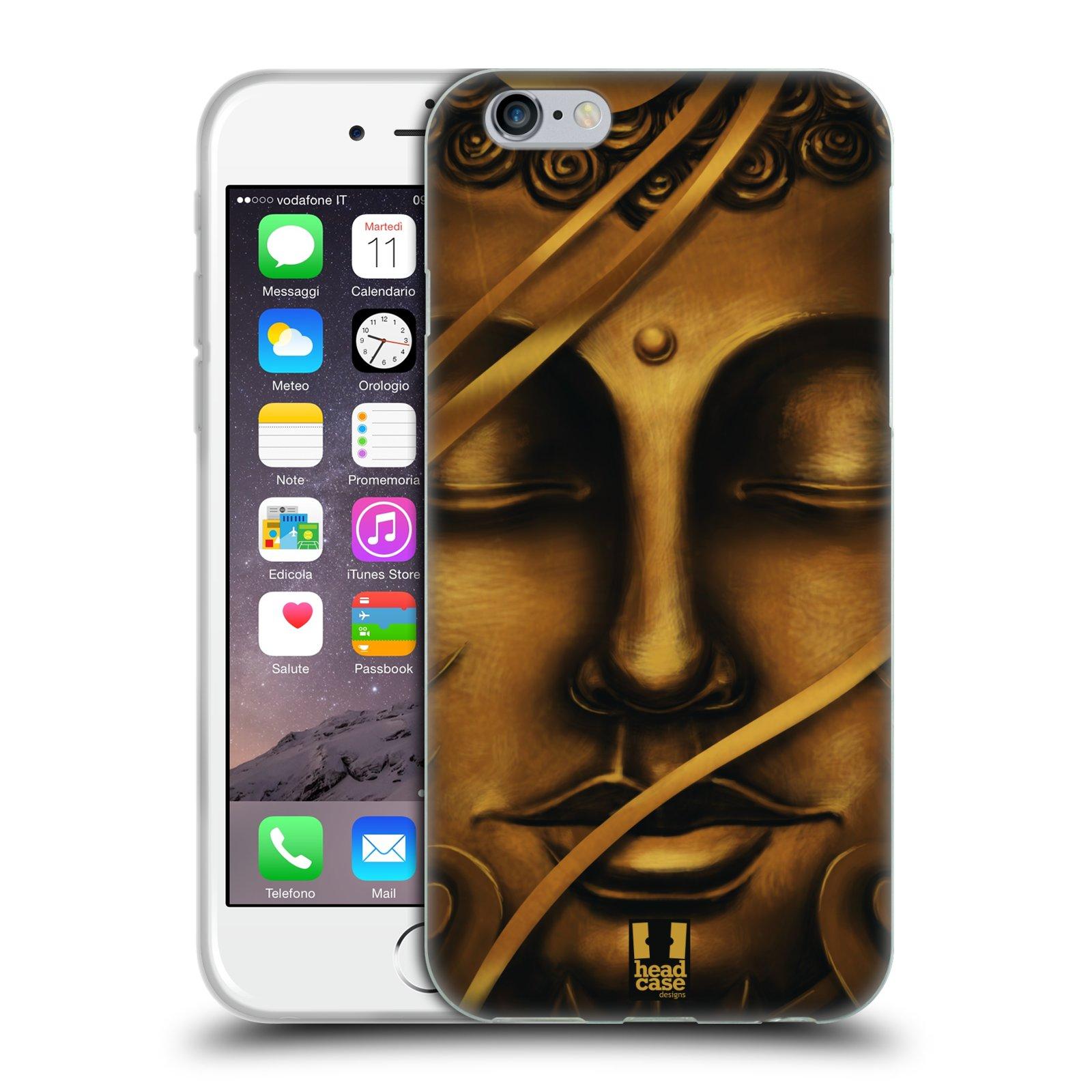 HEAD CASE silikonový obal na mobil Apple Iphone 6/6S vzor BUDDHA ZLATÝ BUDHA