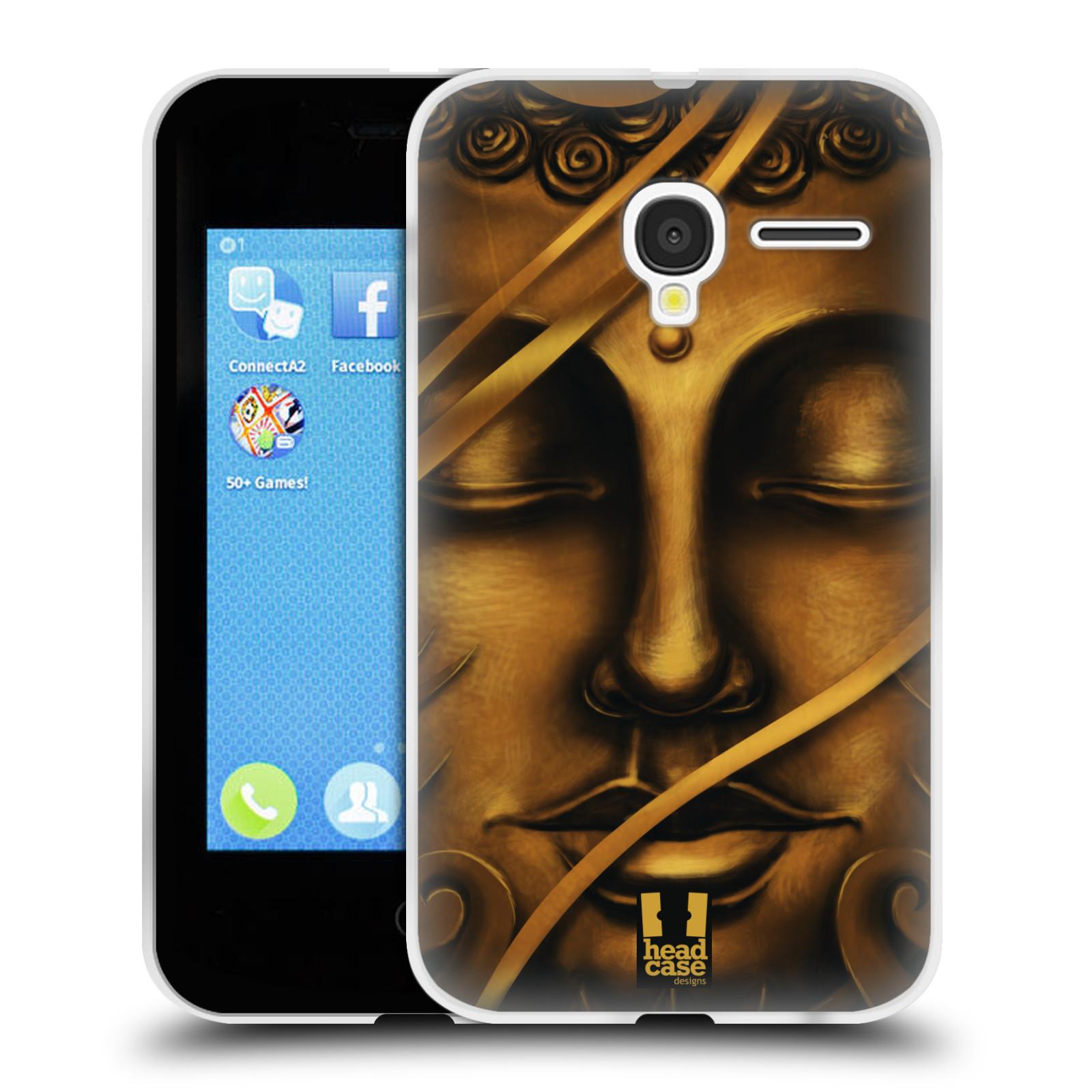HEAD CASE silikonový obal na mobil Alcatel PIXI 3 OT-4022D (3,5 palcový displej) vzor BUDDHA ZLATÝ BUDHA