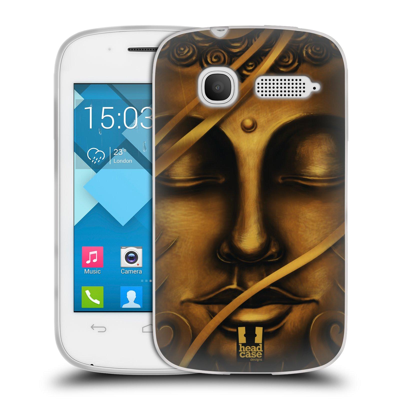 HEAD CASE silikonový obal na mobil Alcatel POP C1 OT-4015D vzor BUDDHA ZLATÝ BUDHA