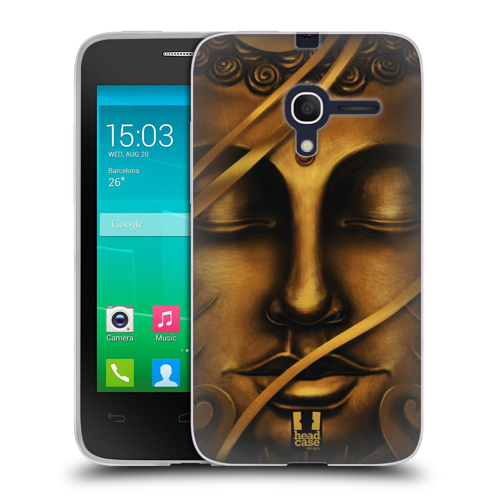 HEAD CASE silikonový obal na mobil Alcatel POP D3 OT-4035D vzor BUDDHA ZLATÝ BUDHA
