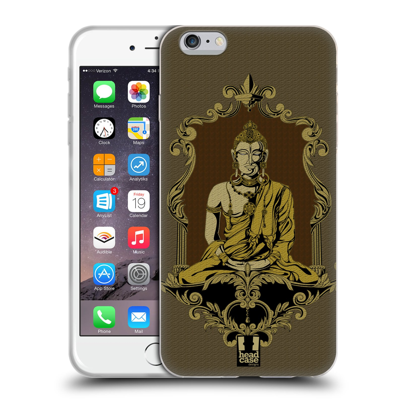 HEAD CASE silikonový obal na mobil Apple Iphone 6 PLUS/ 6S PLUS vzor BUDDHA INDIÁN