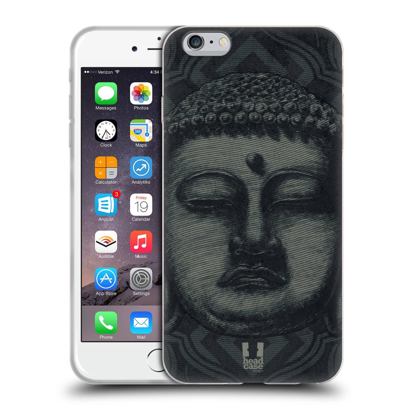 HEAD CASE silikonový obal na mobil Apple Iphone 6 PLUS/ 6S PLUS vzor BUDDHA KAMAKURA tvář