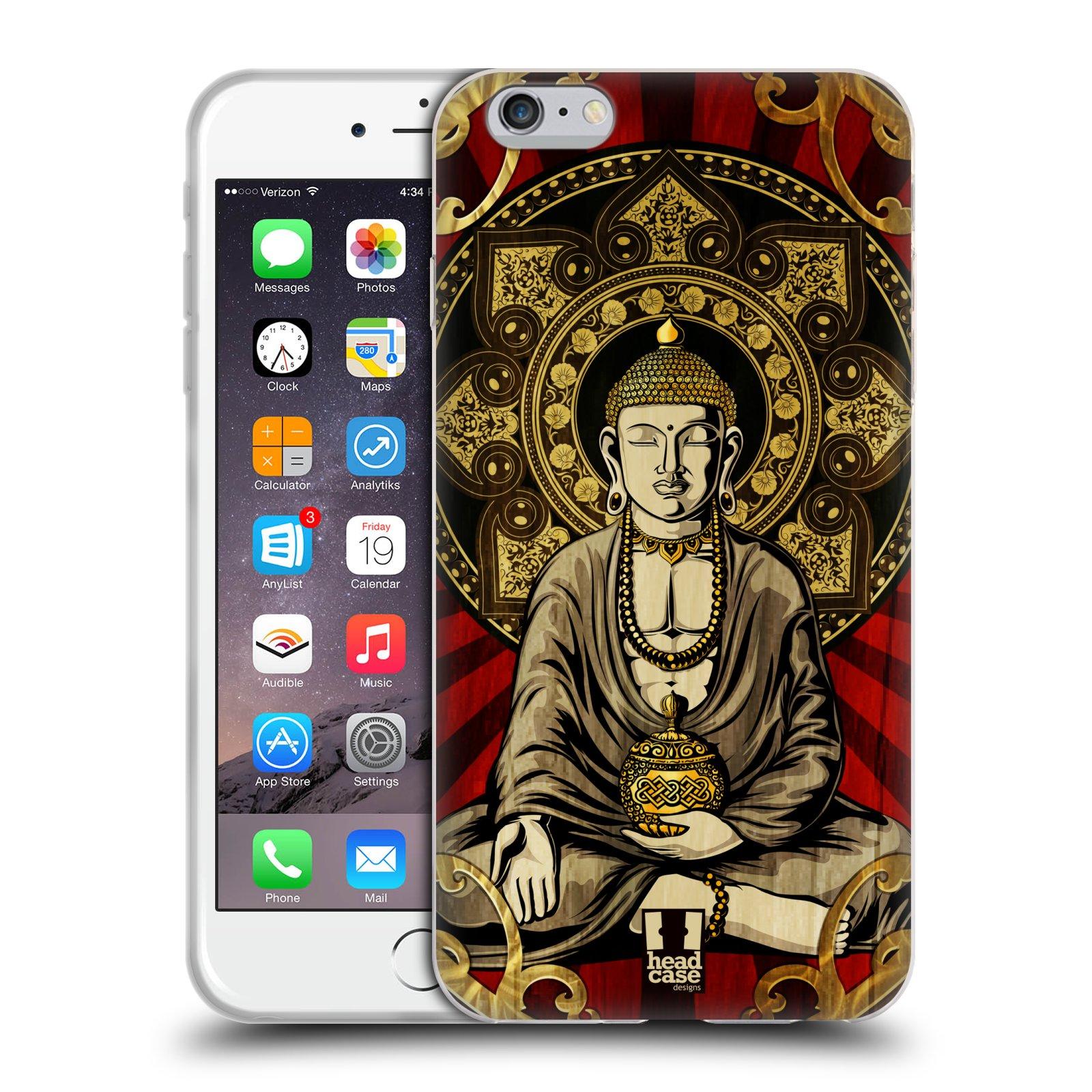 HEAD CASE silikonový obal na mobil Apple Iphone 6 PLUS/ 6S PLUS vzor BUDDHA Bangkok sedící