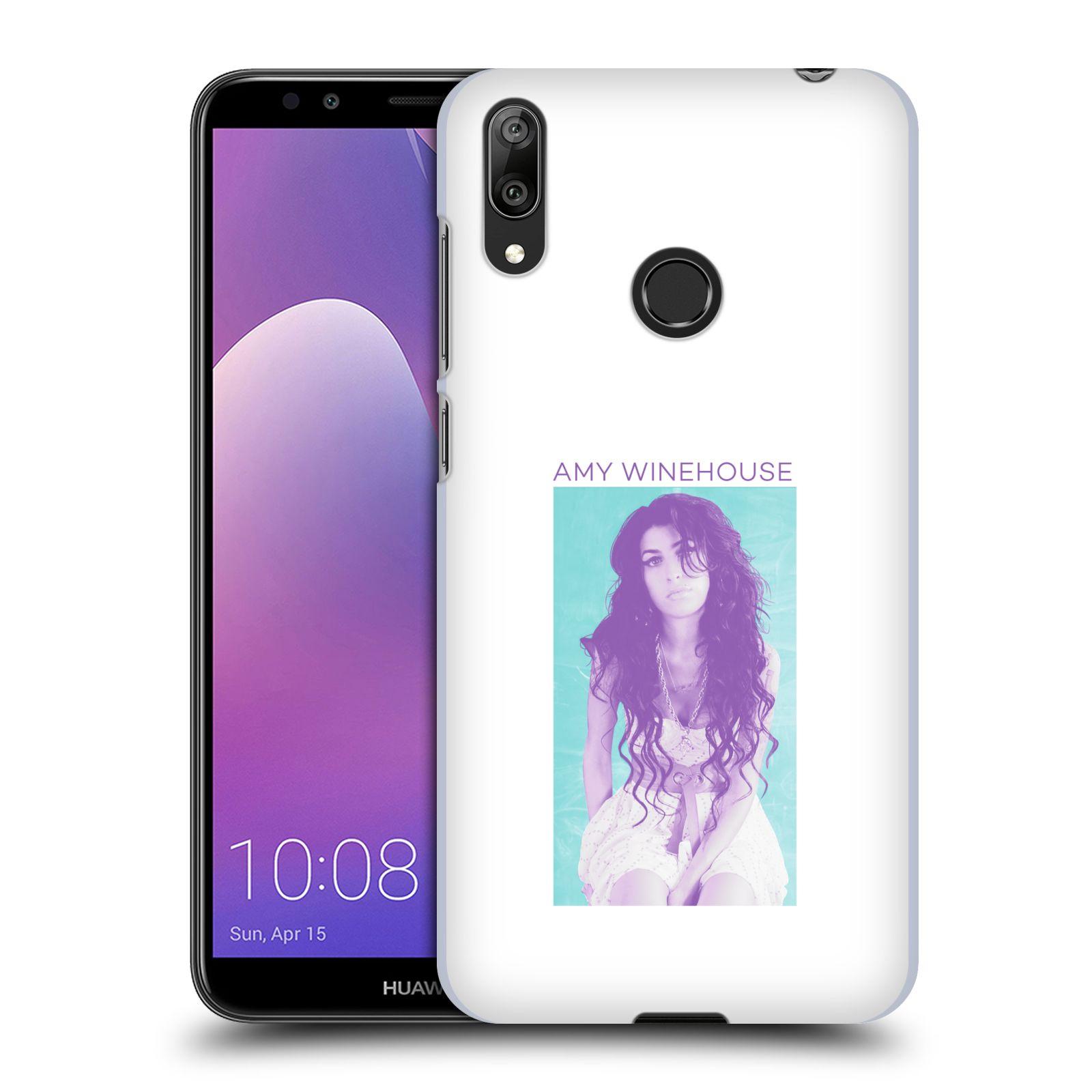 Pouzdro na mobil Huawei Y7 2019 - Head Case - zpěvačka Amy Winehouse portrét back to black