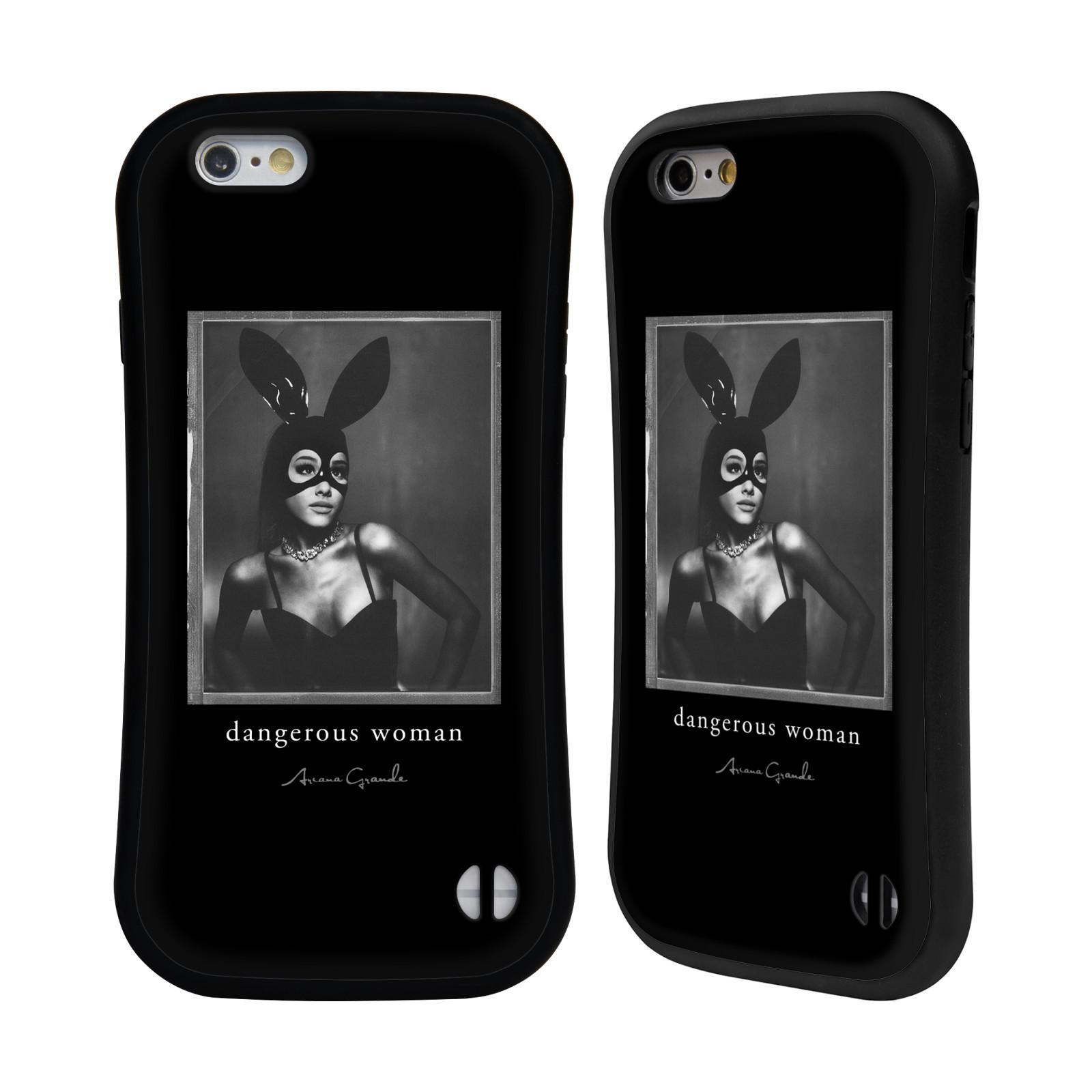 HEAD CASE odolný obal na mobil Apple Iphone 6/6S zpěvačka Ariana Grande Dangerous Woman černá zajíček převlek