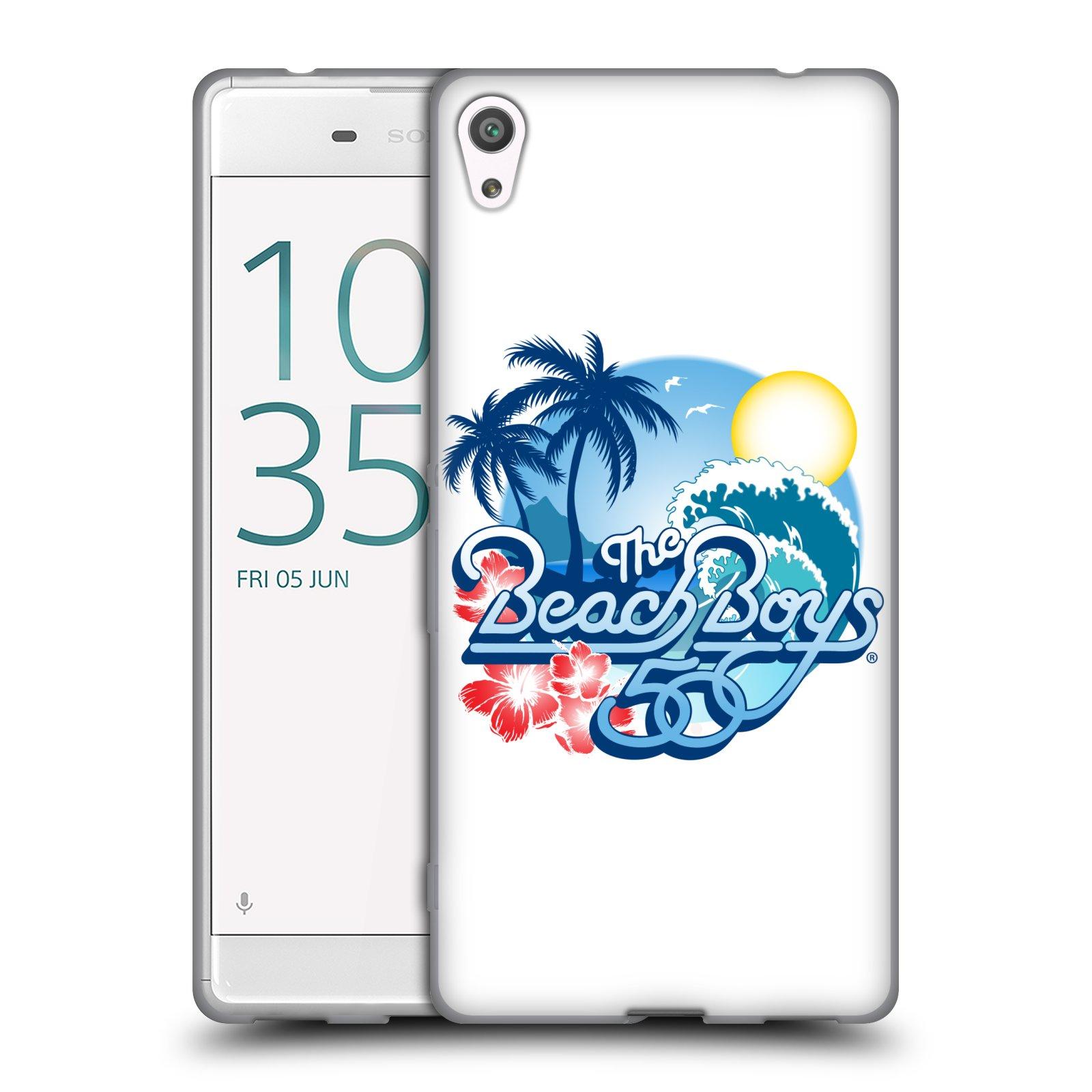 HEAD CASE silikonový obal na mobil Sony Xperia XA ULTRA skupina The Beach Boys logo 50. výročí