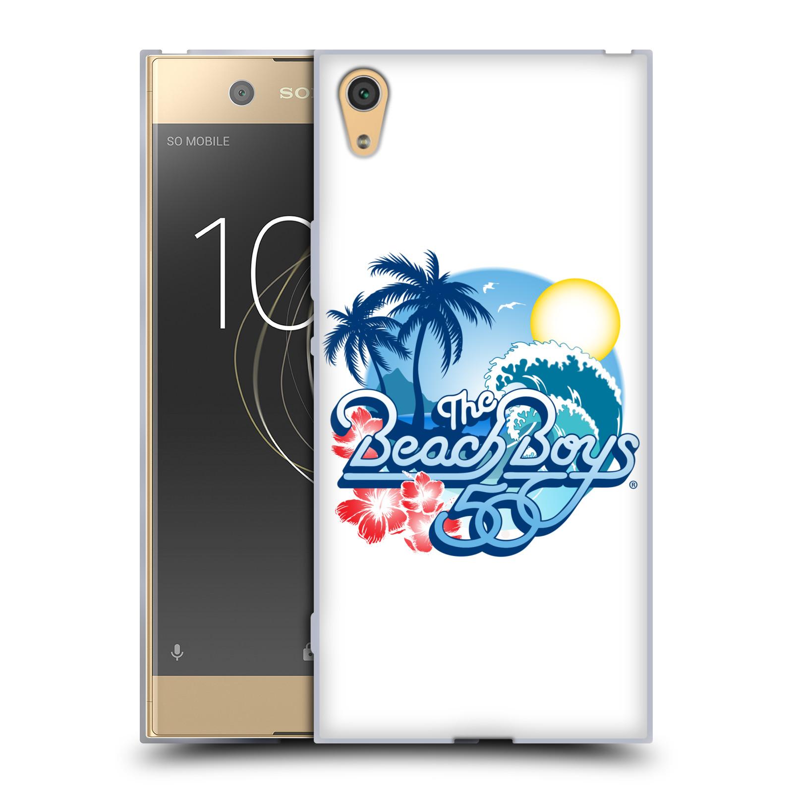HEAD CASE silikonový obal na mobil Sony Xperia XA1 ULTRA skupina The Beach Boys logo 50. výročí