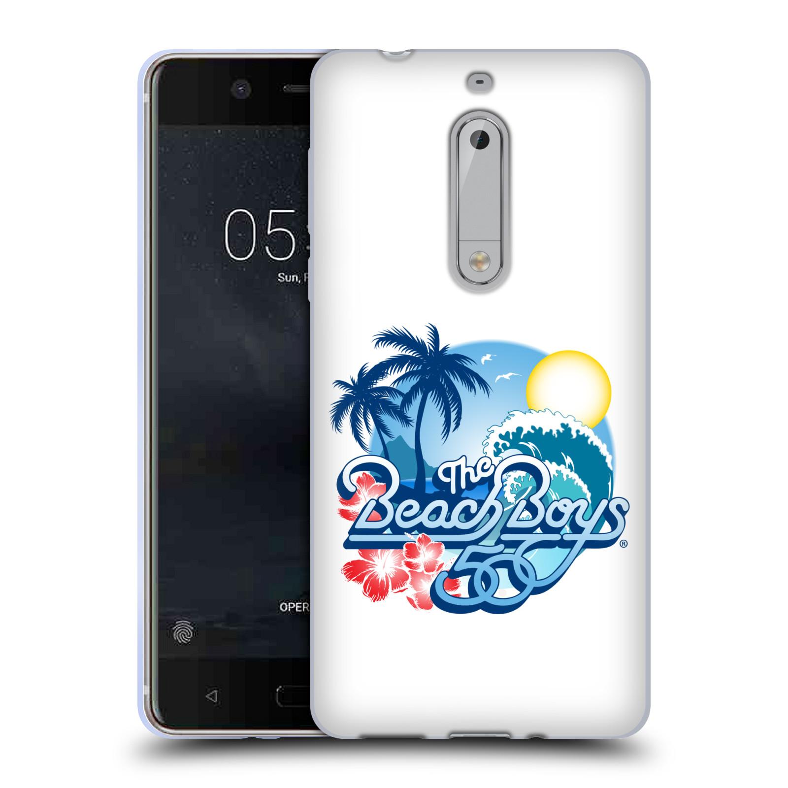 HEAD CASE silikonový obal na mobil Nokia 5 skupina The Beach Boys logo 50. výročí