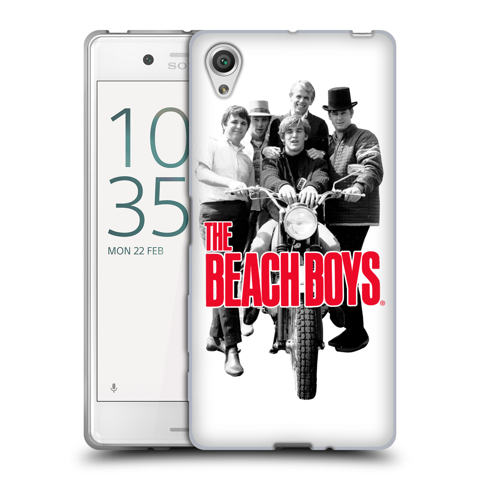 HEAD CASE silikonový obal na mobil Sony Xperia X skupina The Beach Boys foto
