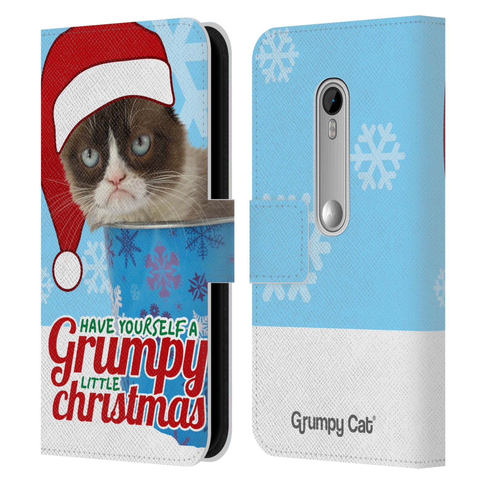 OFFICIAL GRUMPY CAT CHRISTMAS LEATHER BOOK WALLET CASE ...