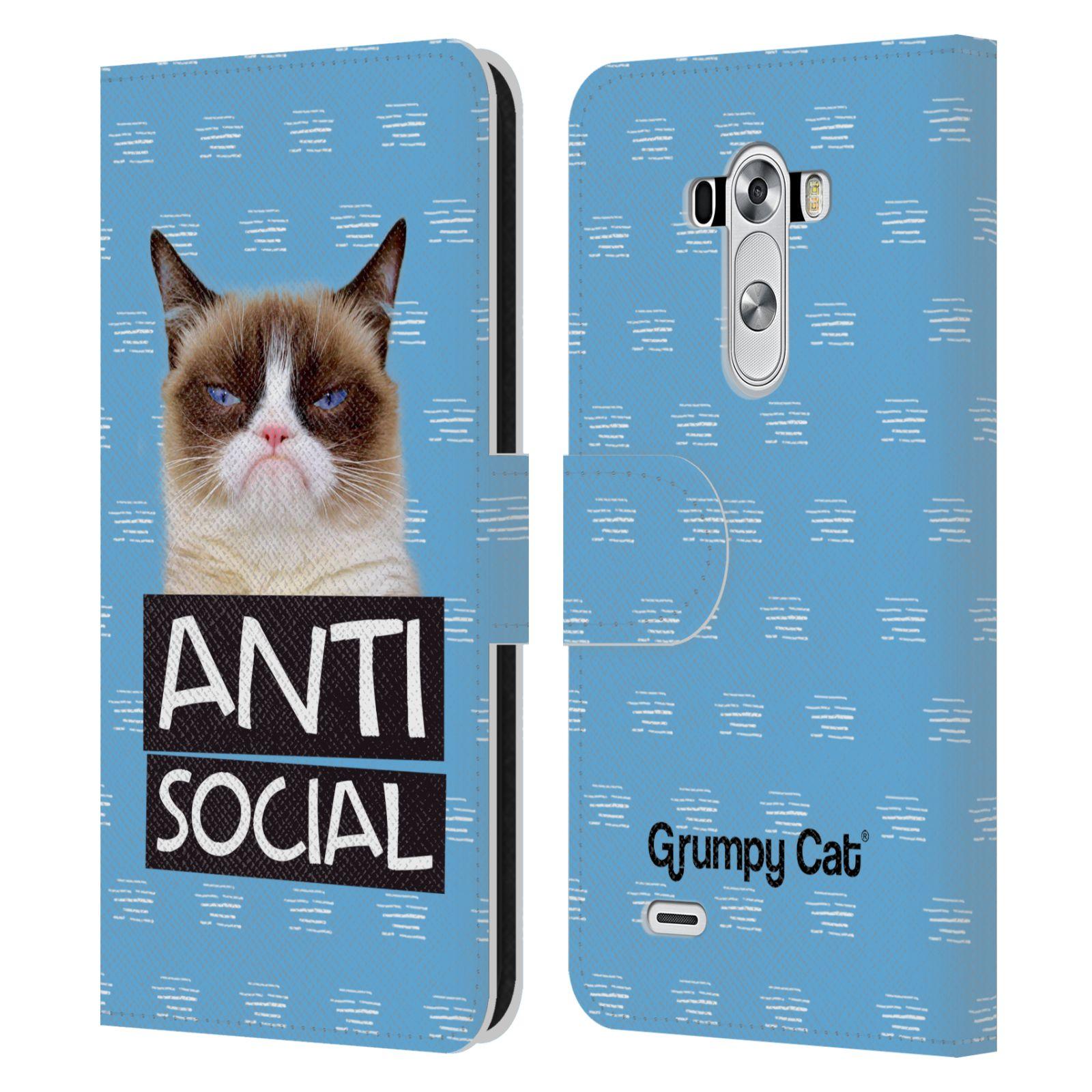 offizielle grumpy cat zitate brieftasche handyh lle aus leder f r lg handys 1 ebay. Black Bedroom Furniture Sets. Home Design Ideas