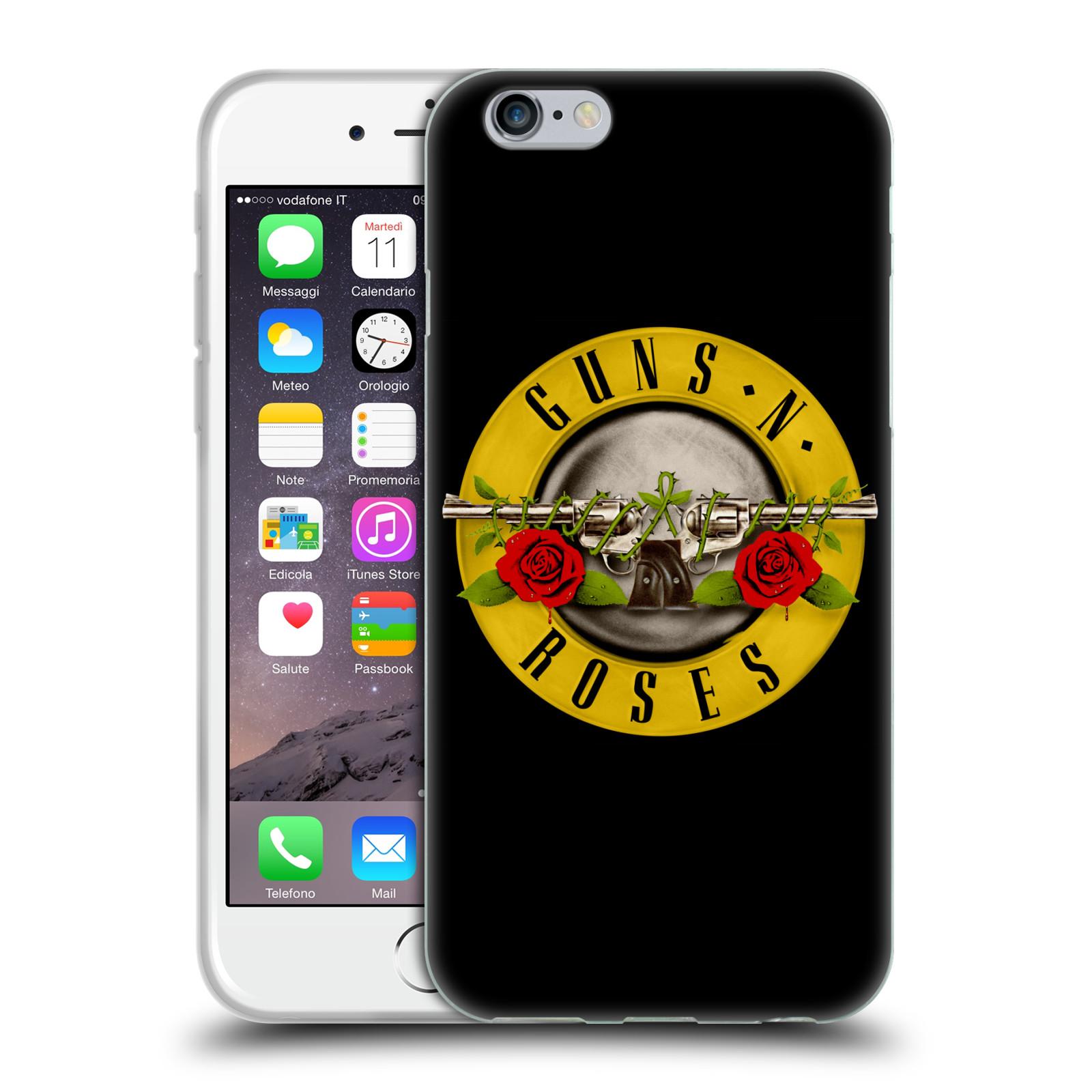 HEAD CASE silikonový obal na mobil Apple Iphone 6/6S hudební skupina Guns N Roses