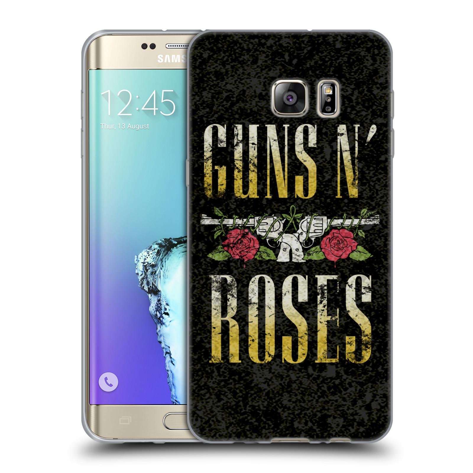 faba01a06 HEAD CASE silikonový obal na mobil Samsung Galaxy S6 EDGE PLUS hudební  skupina Guns N Roses text