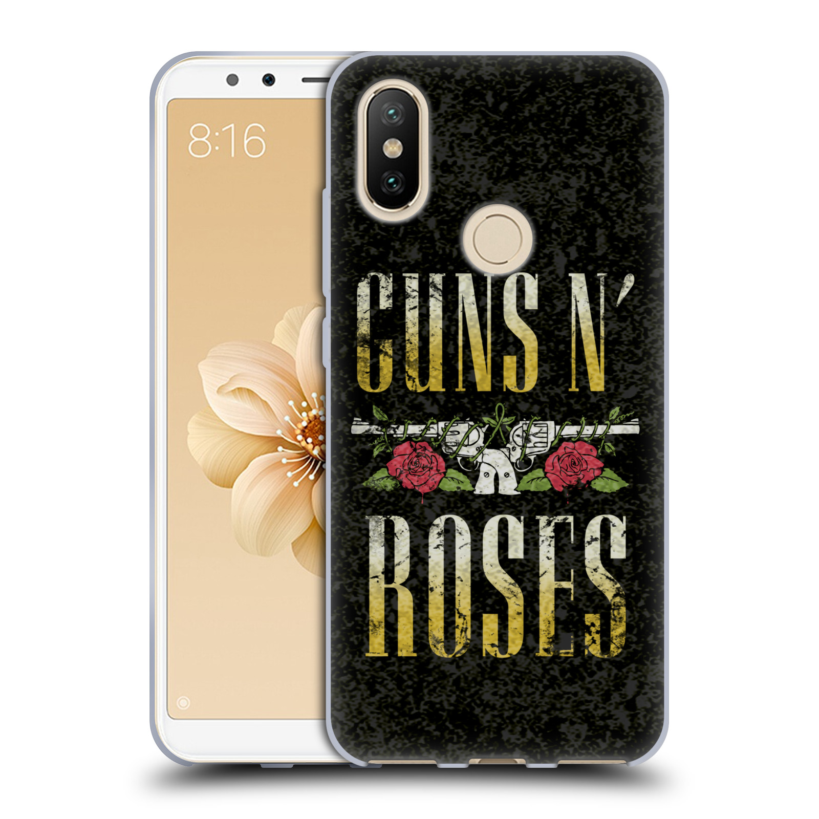 b2db1b168 Silikonové pouzdro na mobil Xiaomi Mi A2 hudební skupina Guns N Roses text