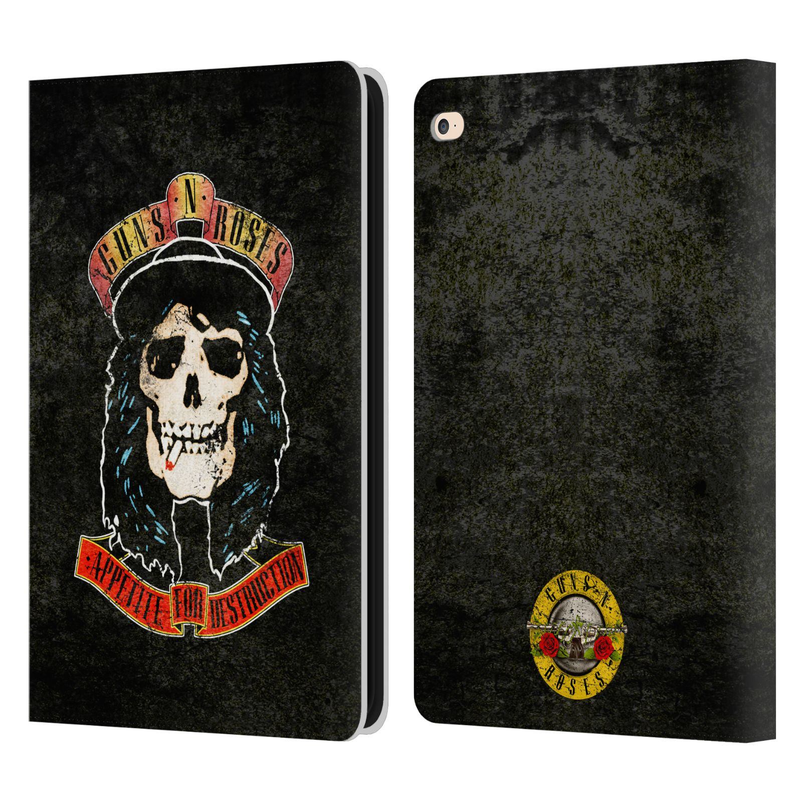 Vintage Book Cover For Ipad : Official guns n roses vintage leather book wallet case