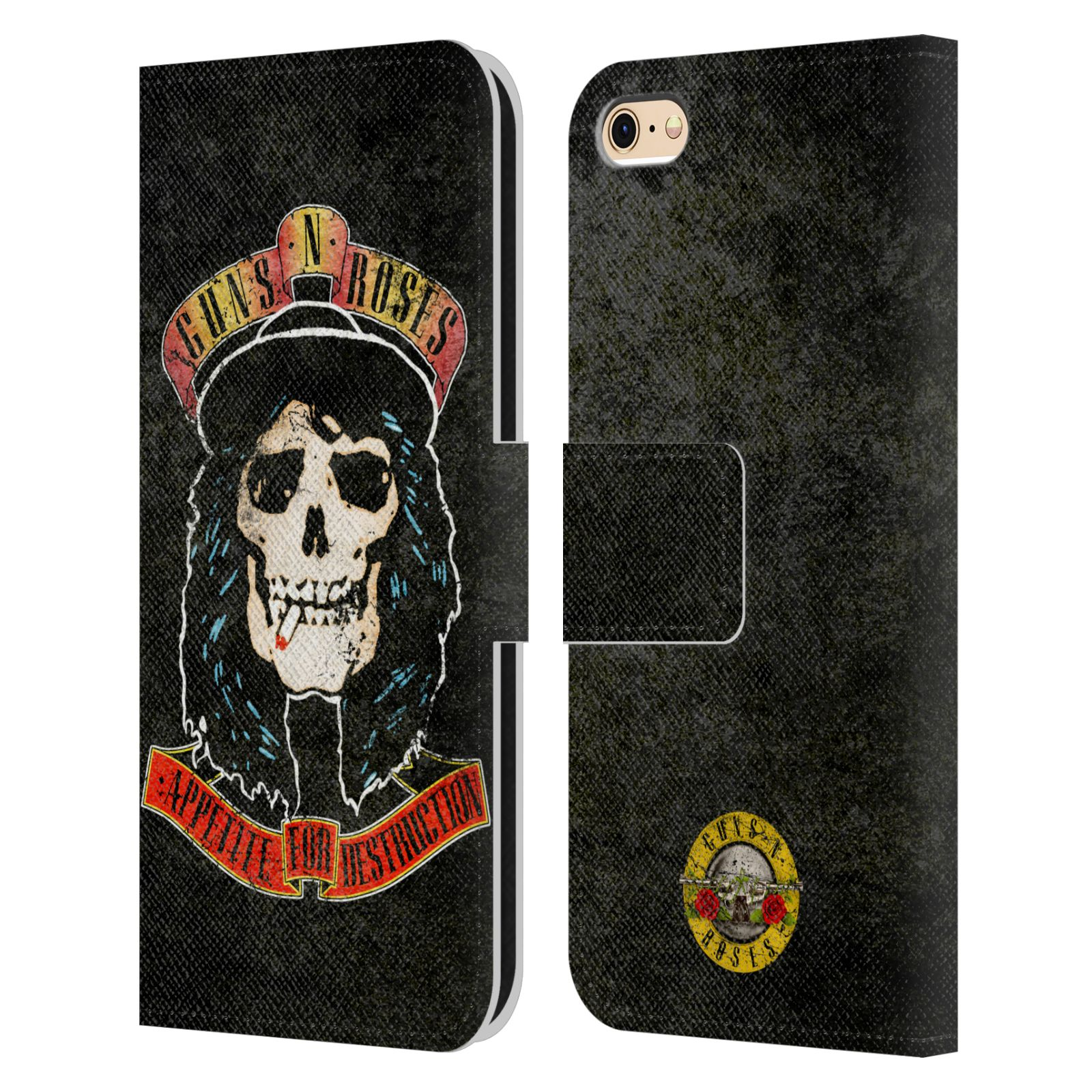 Old Leather Book Iphone Cover : Official guns n roses vintage leather book wallet case