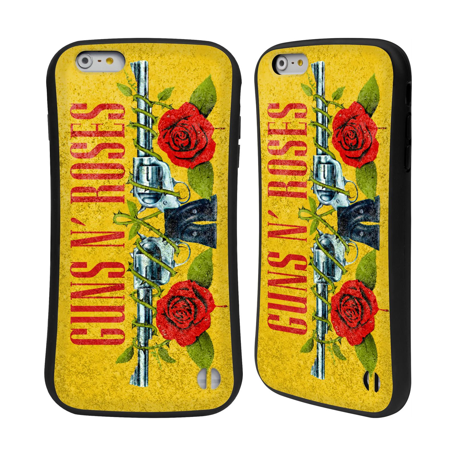 ae728eca1 HEAD CASE odolný obal na mobil Apple Iphone 6/6S PLUS hudební skupina Guns  N Roses pistole a růže žluté pozadí