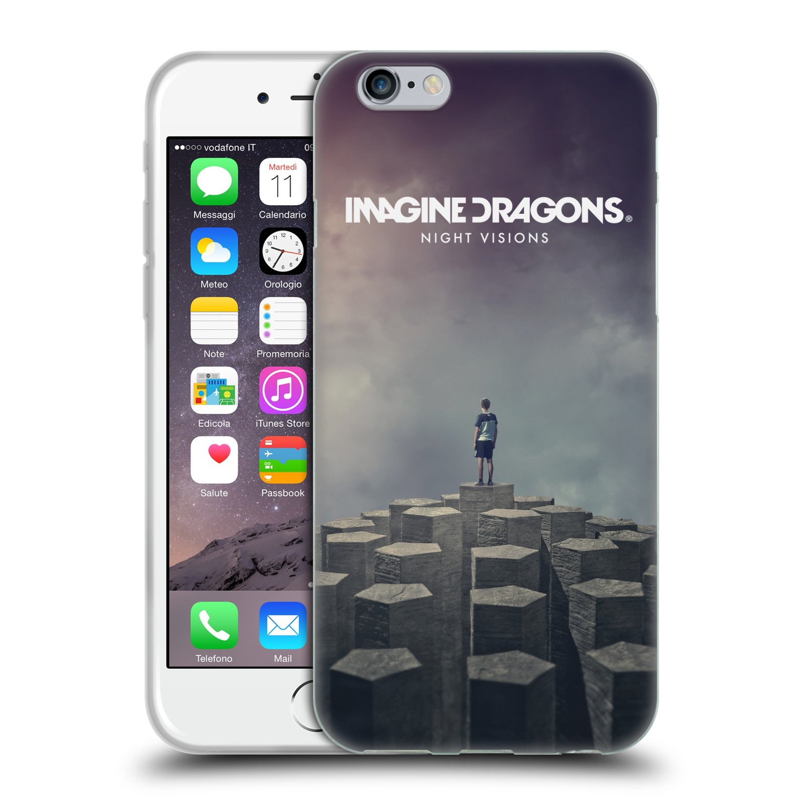 HEAD CASE silikonový obal na mobil Apple Iphone 6/6S hudební skupina Imagine Dragons Night Visions