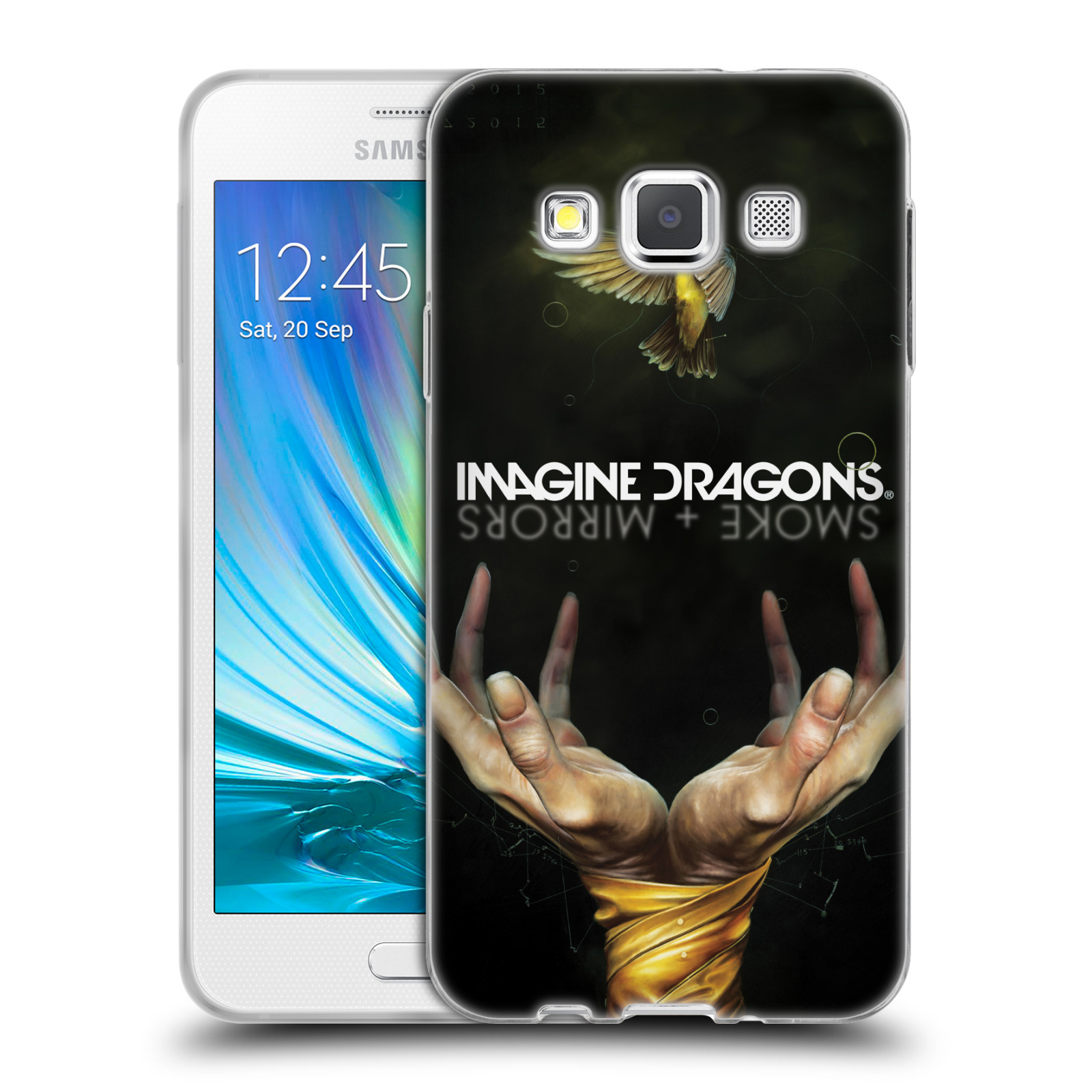 HEAD CASE silikonový obal na mobil Samsung Galaxy A3 (A300) hudební skupina Imagine Dragons SMOKE and MIRRORS