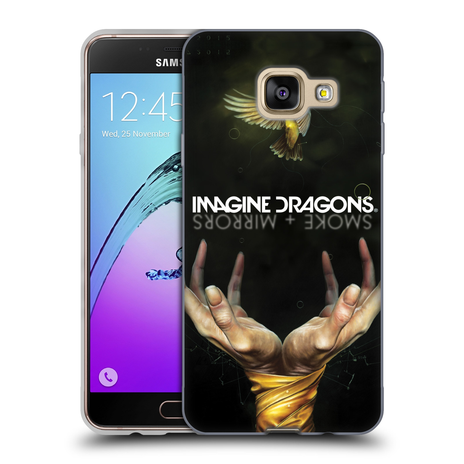 HEAD CASE silikonový obal na mobil Samsung Galaxy A3 2016 (A310) hudební skupina Imagine Dragons SMOKE and MIRRORS