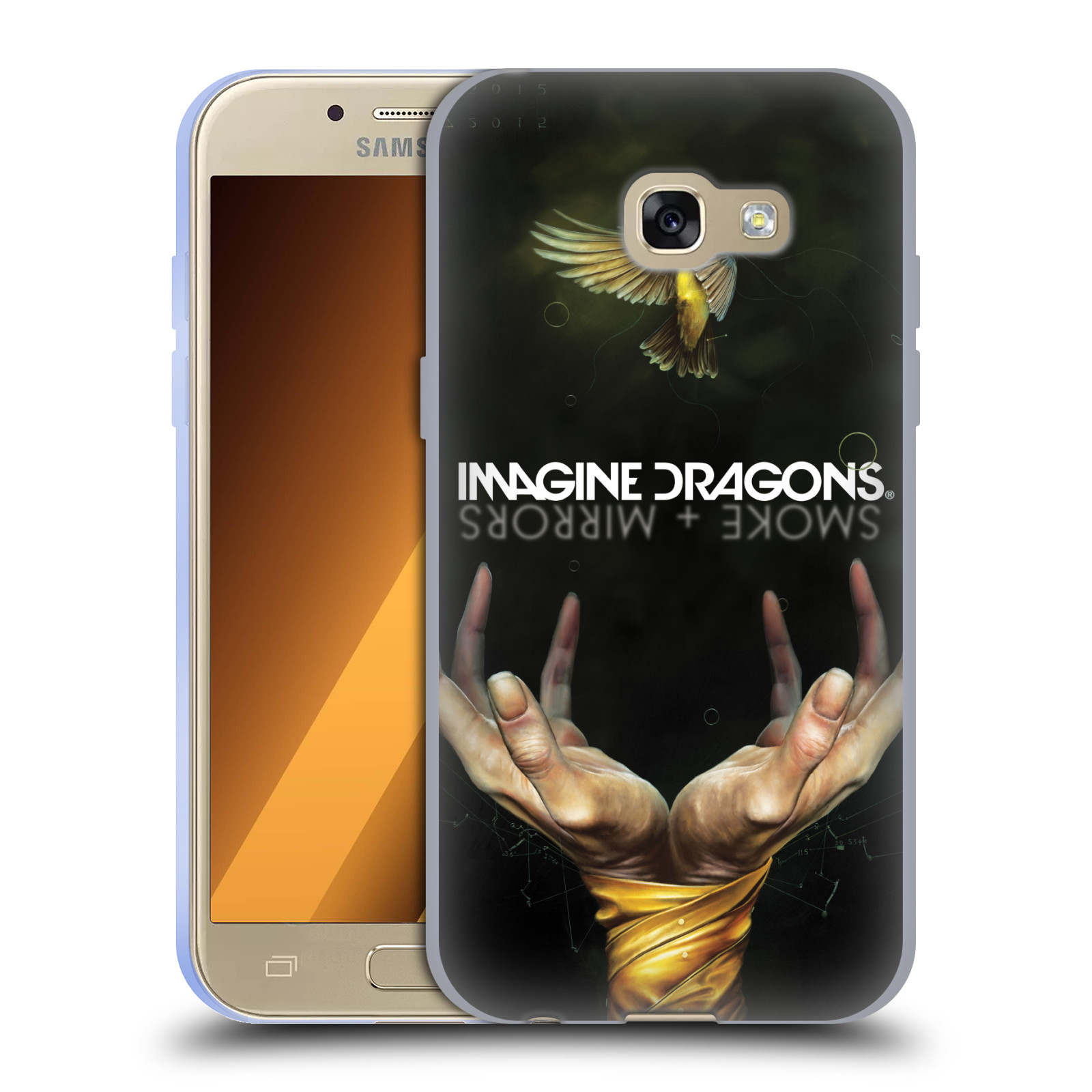 HEAD CASE silikonový obal na mobil Samsung Galaxy A3 2017 (A320) hudební skupina Imagine Dragons SMOKE and MIRRORS
