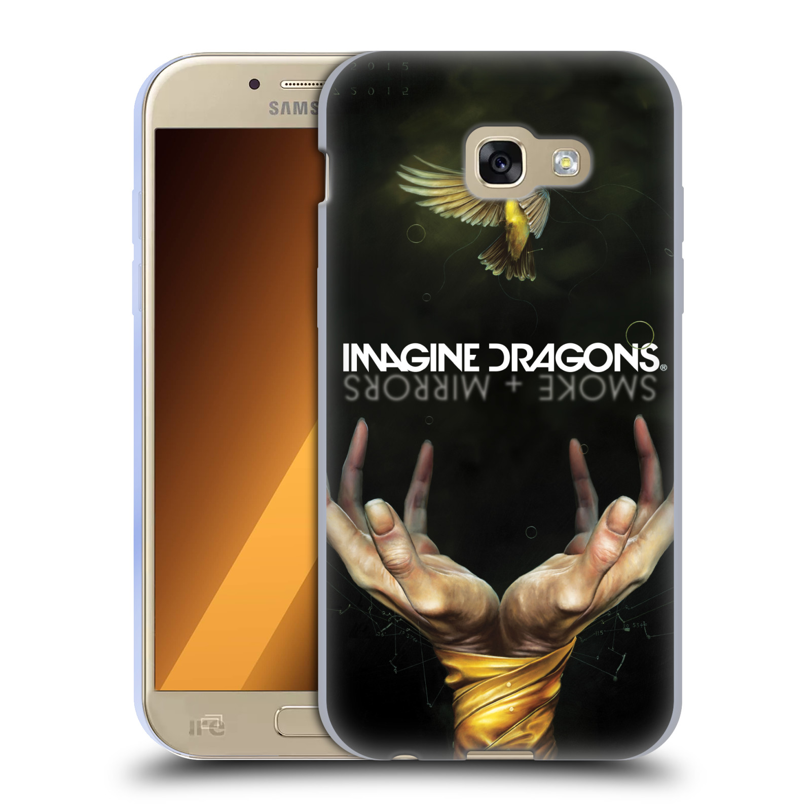 HEAD CASE silikonový obal na mobil Samsung Galaxy A5 2017 (A520) hudební skupina Imagine Dragons SMOKE and MIRRORS