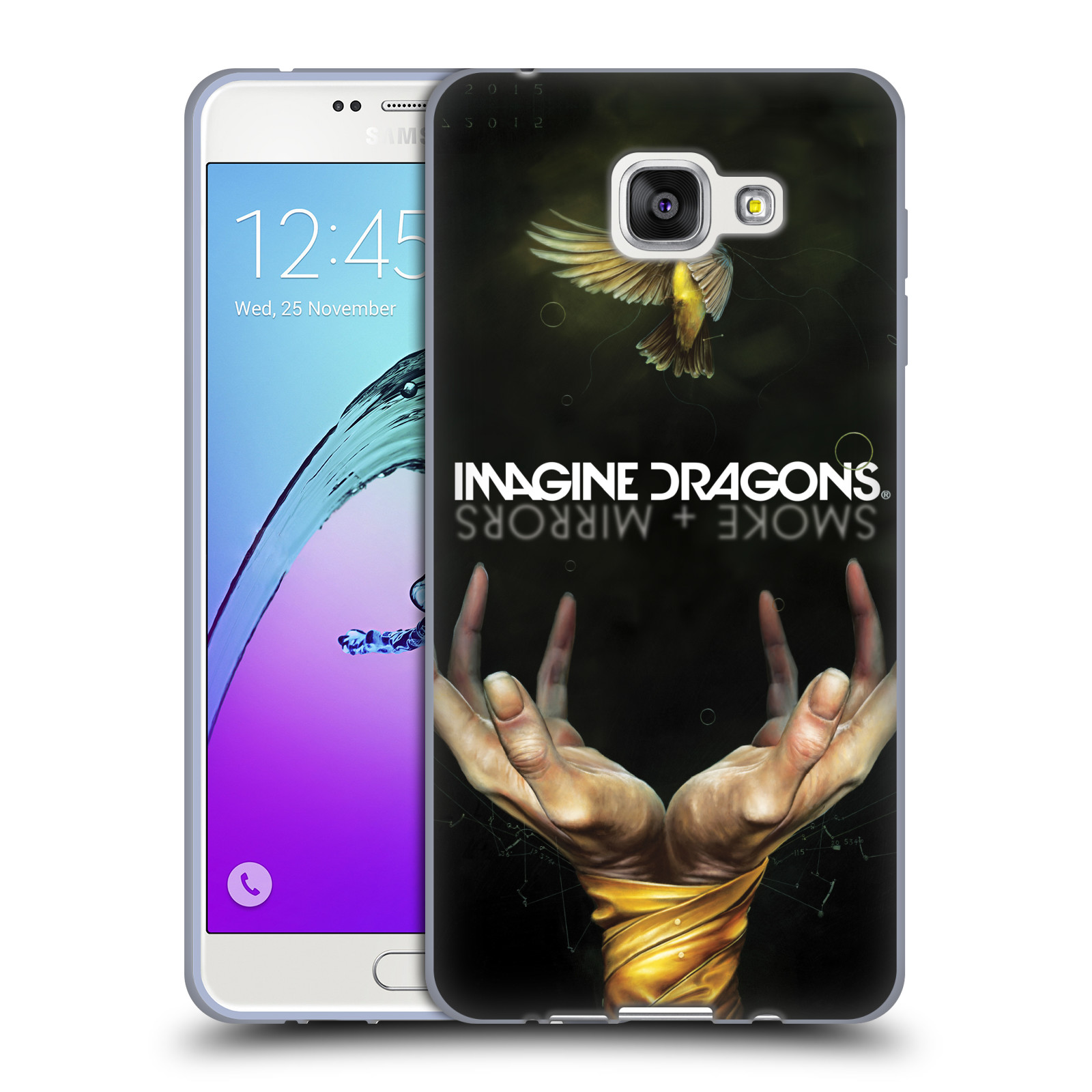 HEAD CASE silikonový obal na mobil Samsung Galaxy A7 2016 (A710) hudební skupina Imagine Dragons SMOKE and MIRRORS