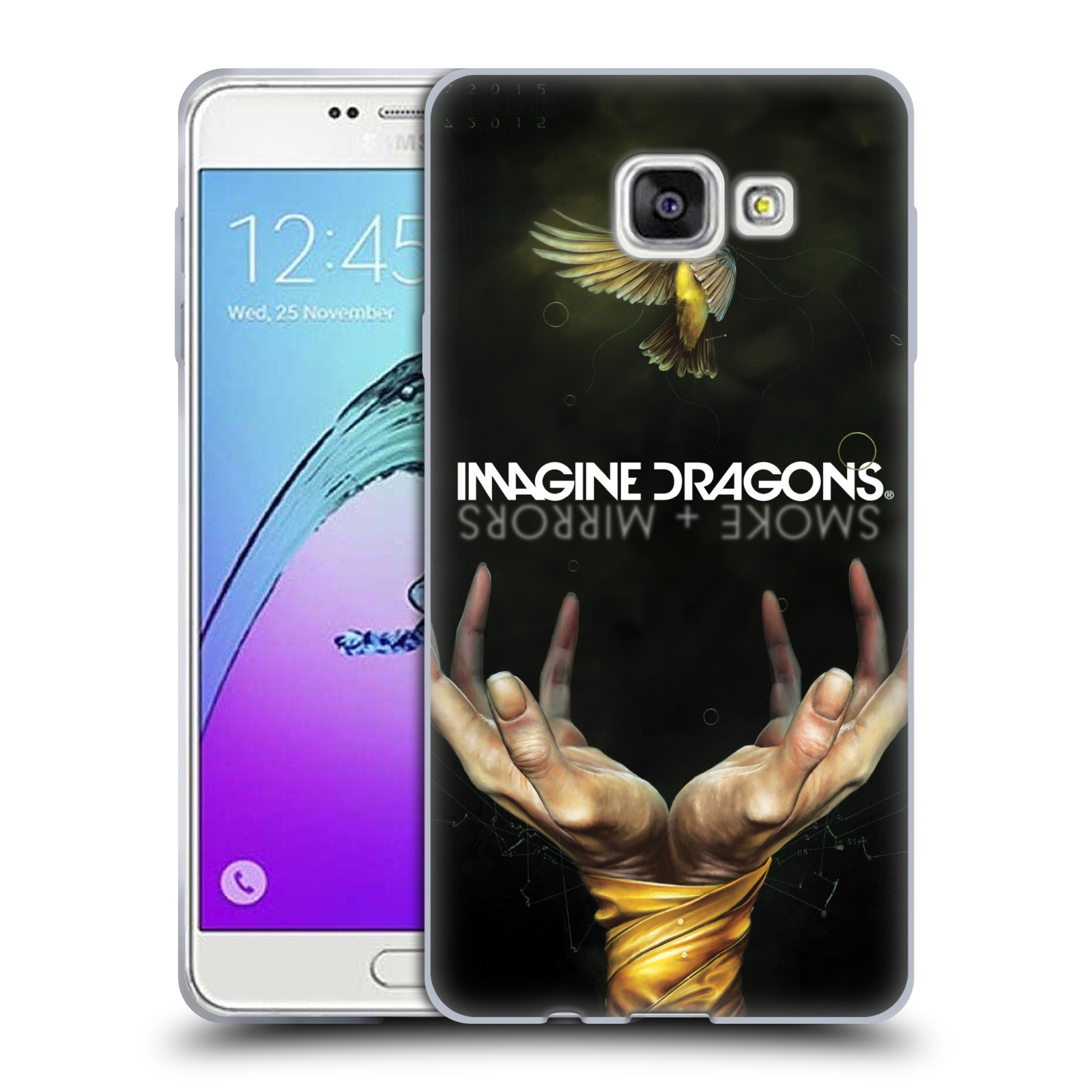 HEAD CASE silikonový obal na mobil Samsung Galaxy A7 2017 (A720) hudební skupina Imagine Dragons SMOKE and MIRRORS