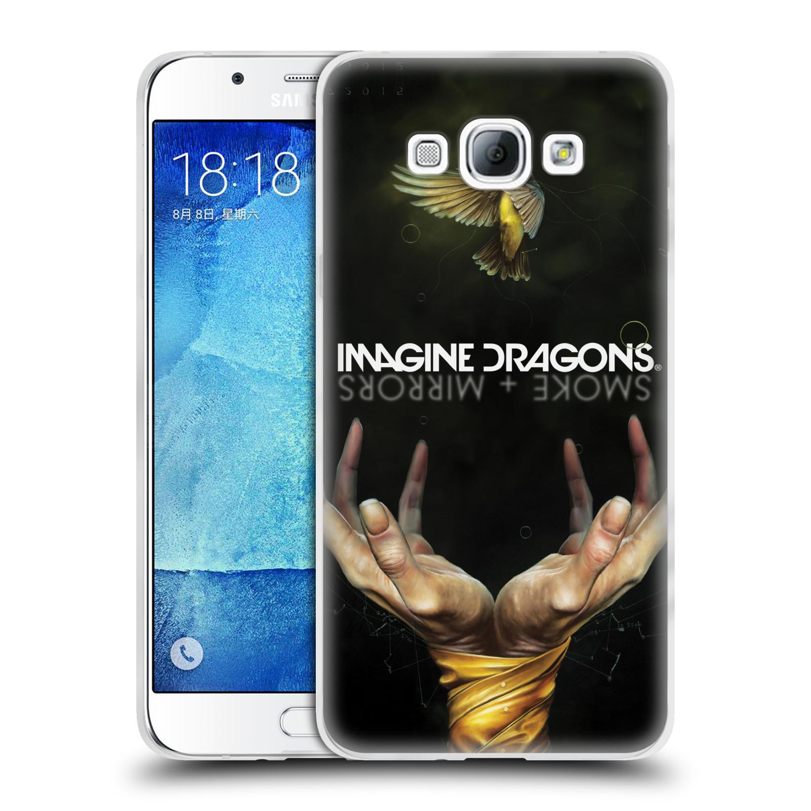 HEAD CASE silikonový obal na mobil Samsung Galaxy A8 2015 hudební skupina Imagine Dragons SMOKE and MIRRORS