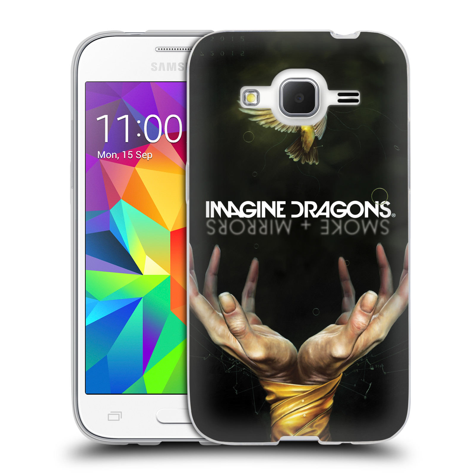 HEAD CASE silikonový obal na mobil Samsung Galaxy Core Prime (G360) hudební skupina Imagine Dragons SMOKE and MIRRORS