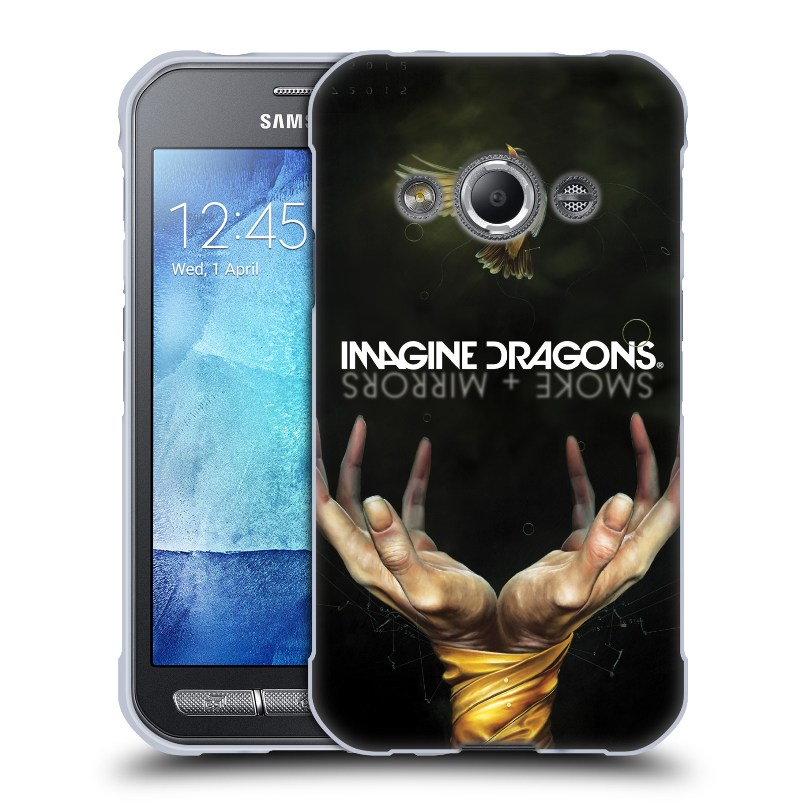 HEAD CASE silikonový obal na mobil Samsung Galaxy Xcover 3 hudební skupina Imagine Dragons SMOKE and MIRRORS