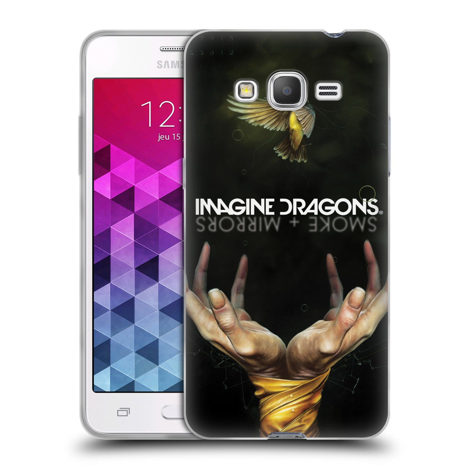HEAD CASE silikonový obal na mobil Samsung Galaxy Grand Prime hudební skupina Imagine Dragons SMOKE and MIRRORS