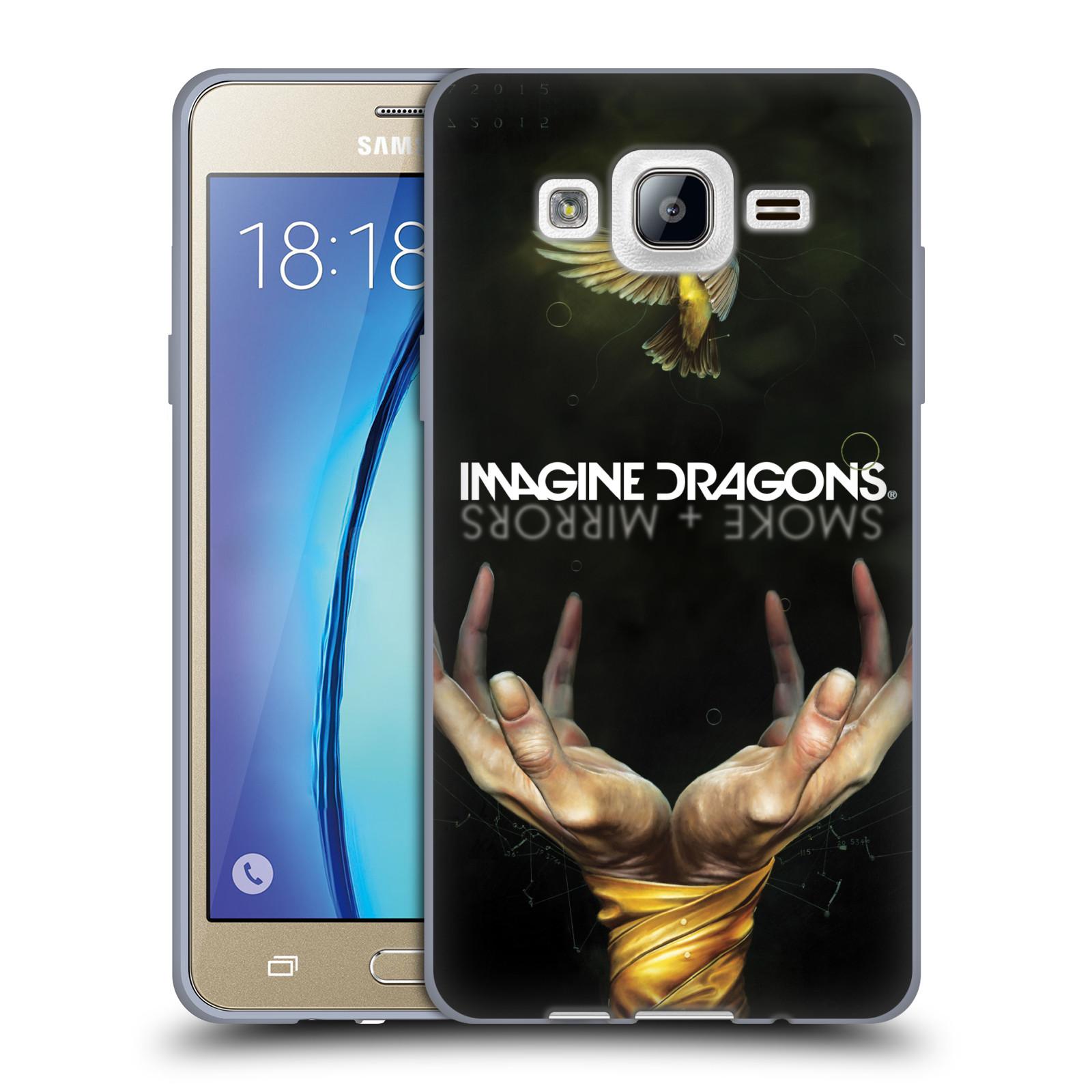 HEAD CASE silikonový obal na mobil Samsung Galaxy On5 hudební skupina Imagine Dragons SMOKE and MIRRORS