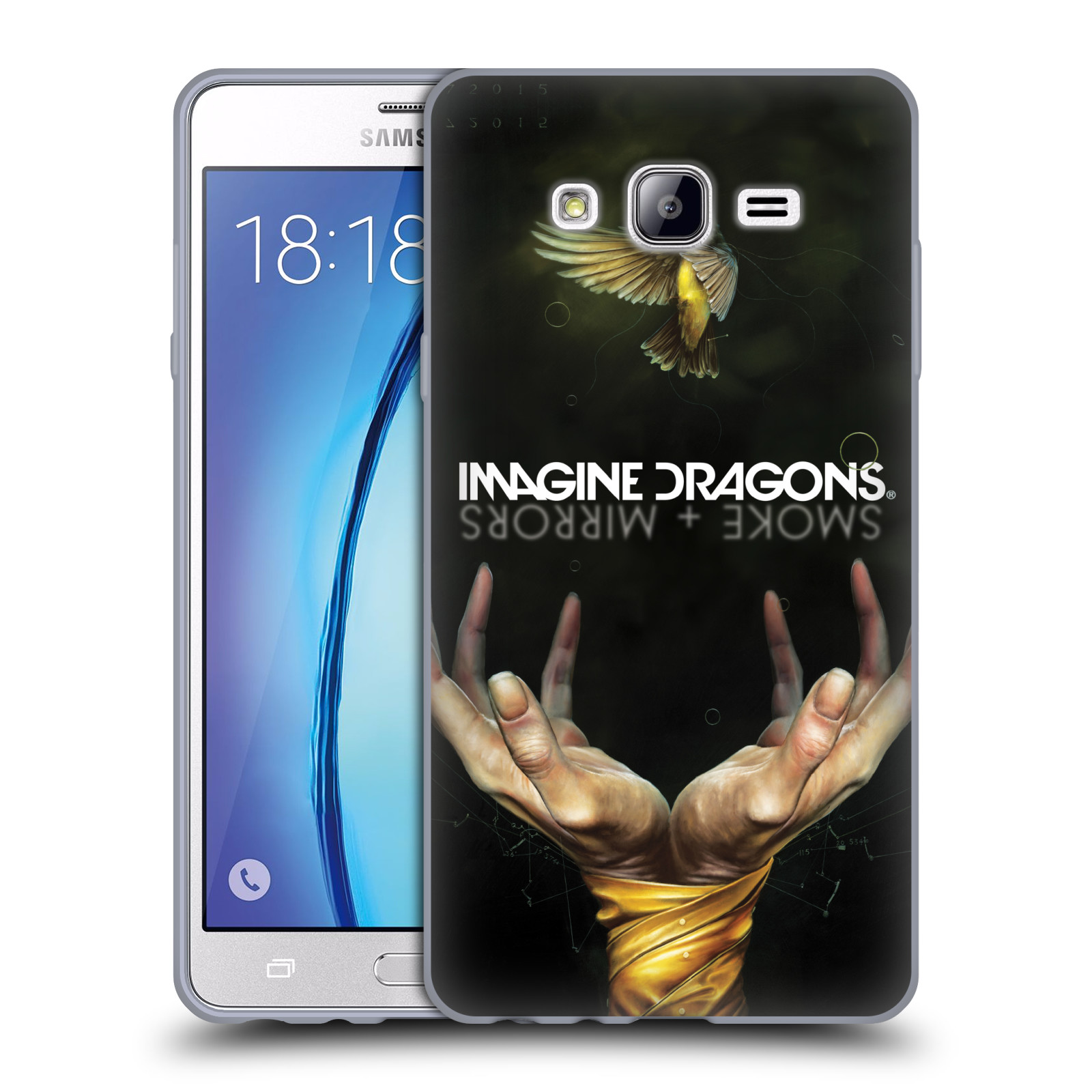 HEAD CASE silikonový obal na mobil Samsung Galaxy On7 hudební skupina Imagine Dragons SMOKE and MIRRORS