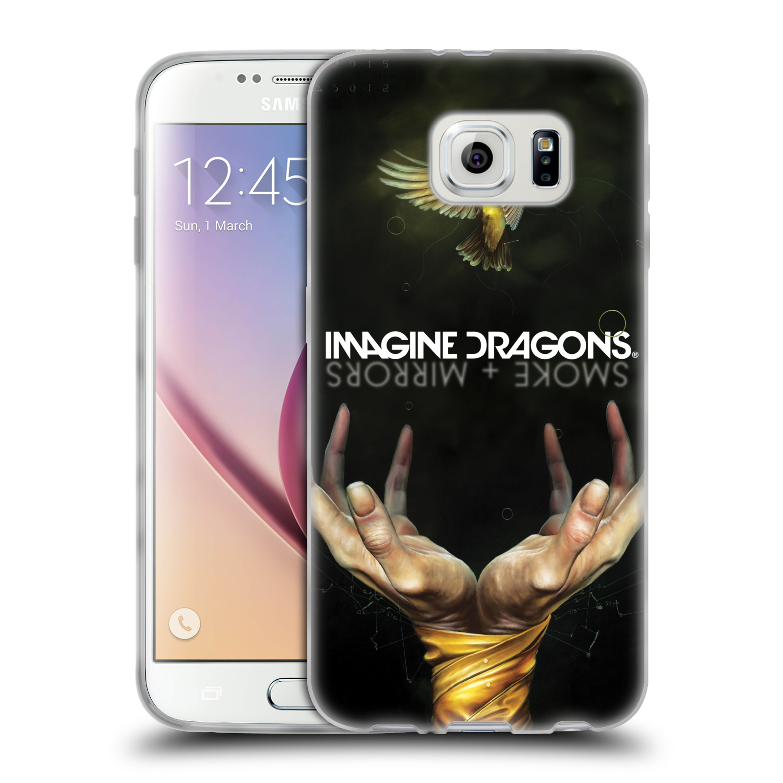 HEAD CASE silikonový obal na mobil Samsung Galaxy S6 hudební skupina Imagine Dragons SMOKE and MIRRORS
