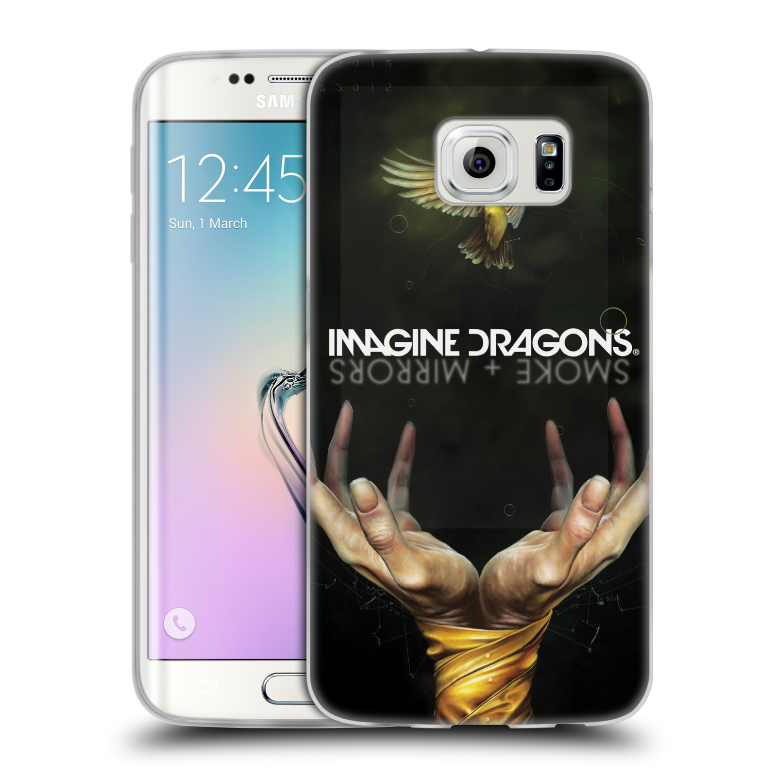 HEAD CASE silikonový obal na mobil Samsung Galaxy S6 EDGE hudební skupina Imagine Dragons SMOKE and MIRRORS