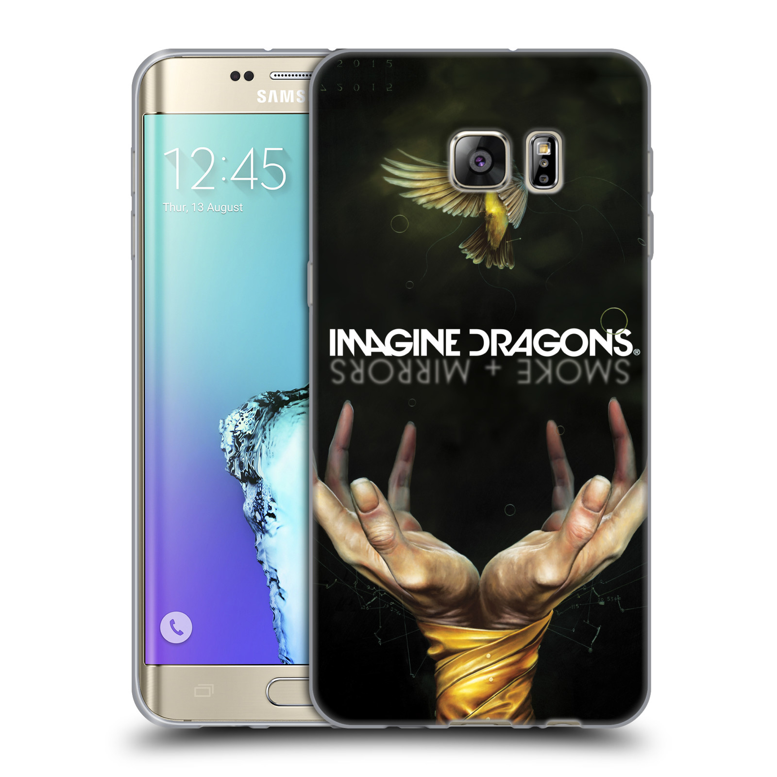 HEAD CASE silikonový obal na mobil Samsung Galaxy S6 EDGE PLUS hudební skupina Imagine Dragons SMOKE and MIRRORS