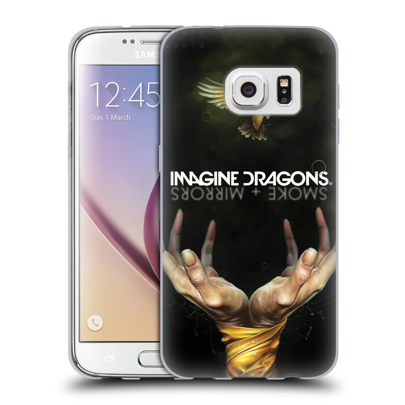 HEAD CASE silikonový obal na mobil Samsung Galaxy S7 hudební skupina Imagine Dragons SMOKE and MIRRORS