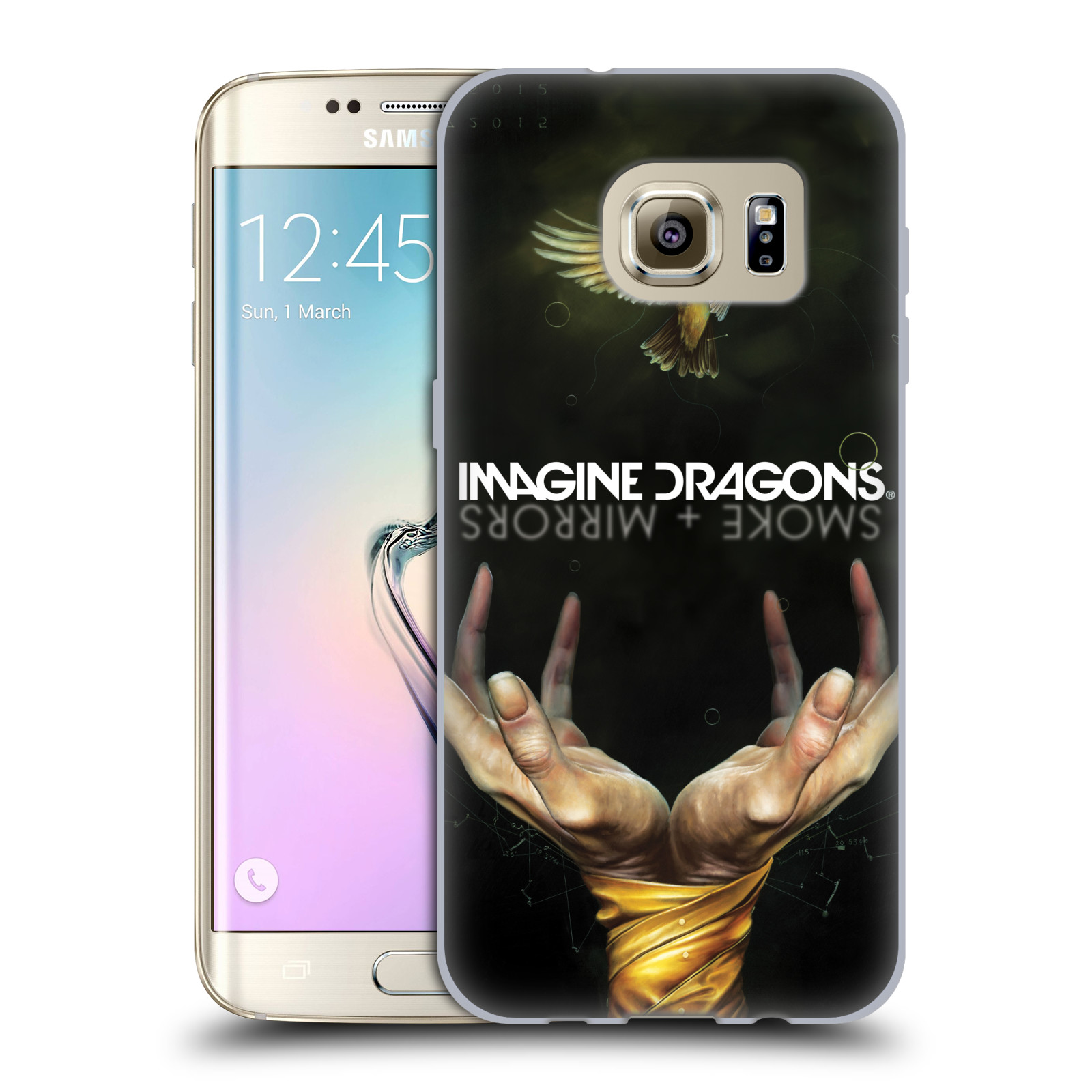HEAD CASE silikonový obal na mobil Samsung Galaxy S7 EDGE hudební skupina Imagine Dragons SMOKE and MIRRORS